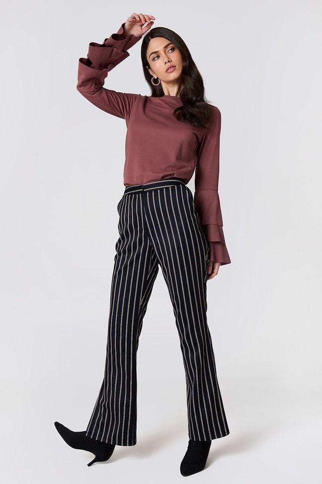 Triple Flounce Sleeve Sweater NA-KD.COM