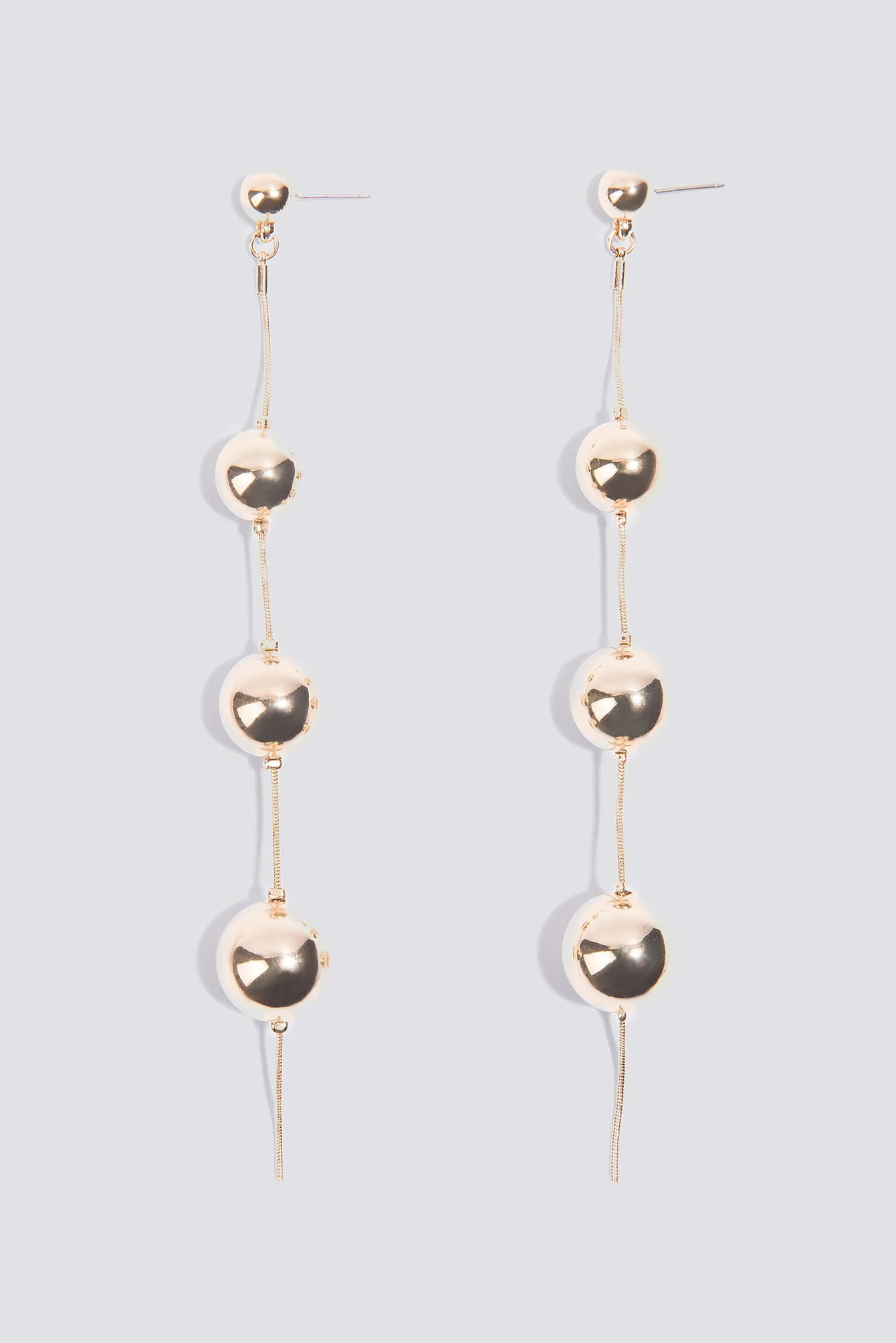 Triple Globe Drop Earrings NA-KD.COM