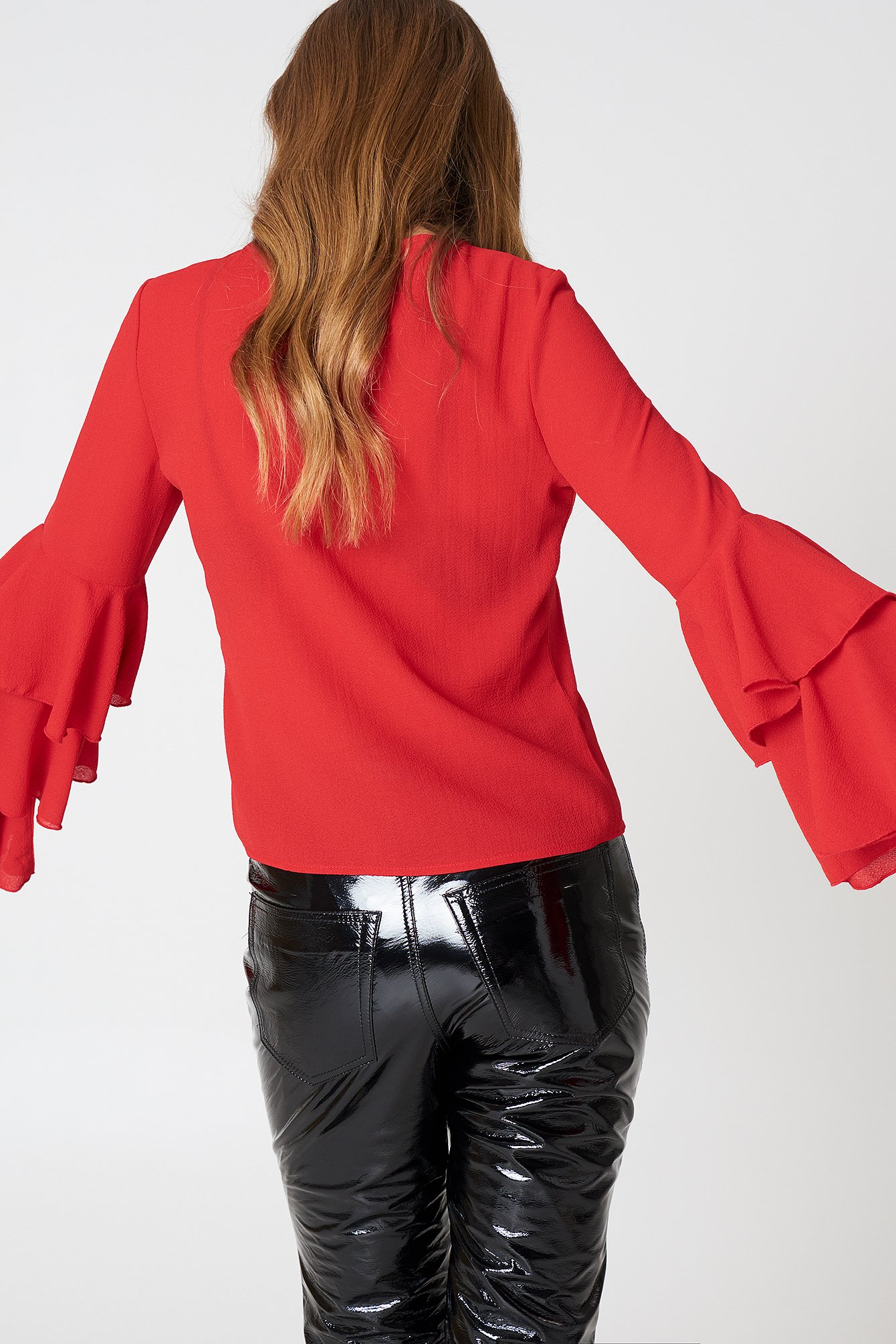 Triple Layer Flounce Blouse NA-KD.COM
