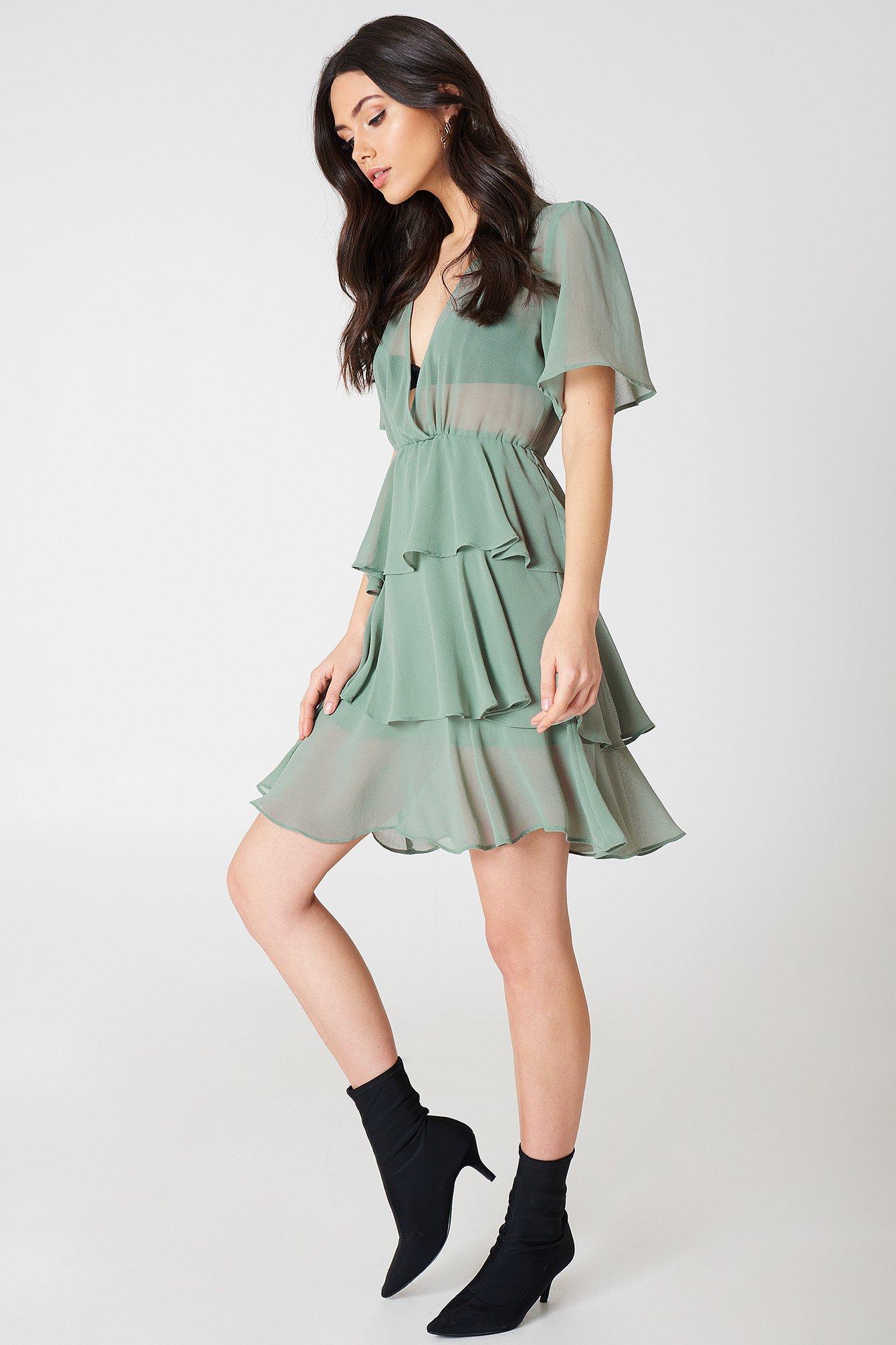 Triple Layer Flounce Dress NA-KD.COM