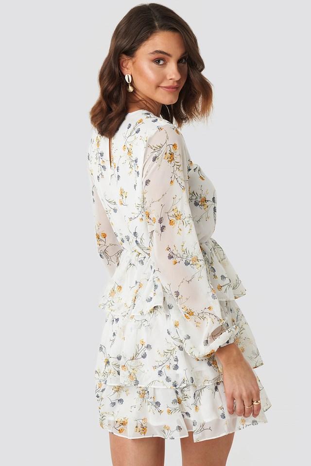 Triple Layer Flounce Mini Dress NA-KD.COM