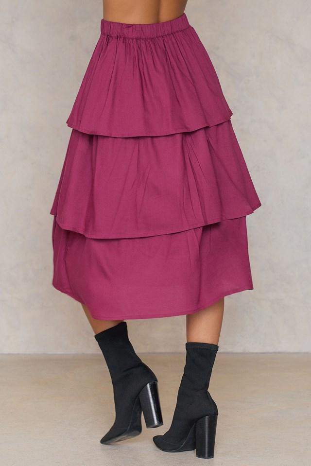Triple Layer Skirt Burgundy