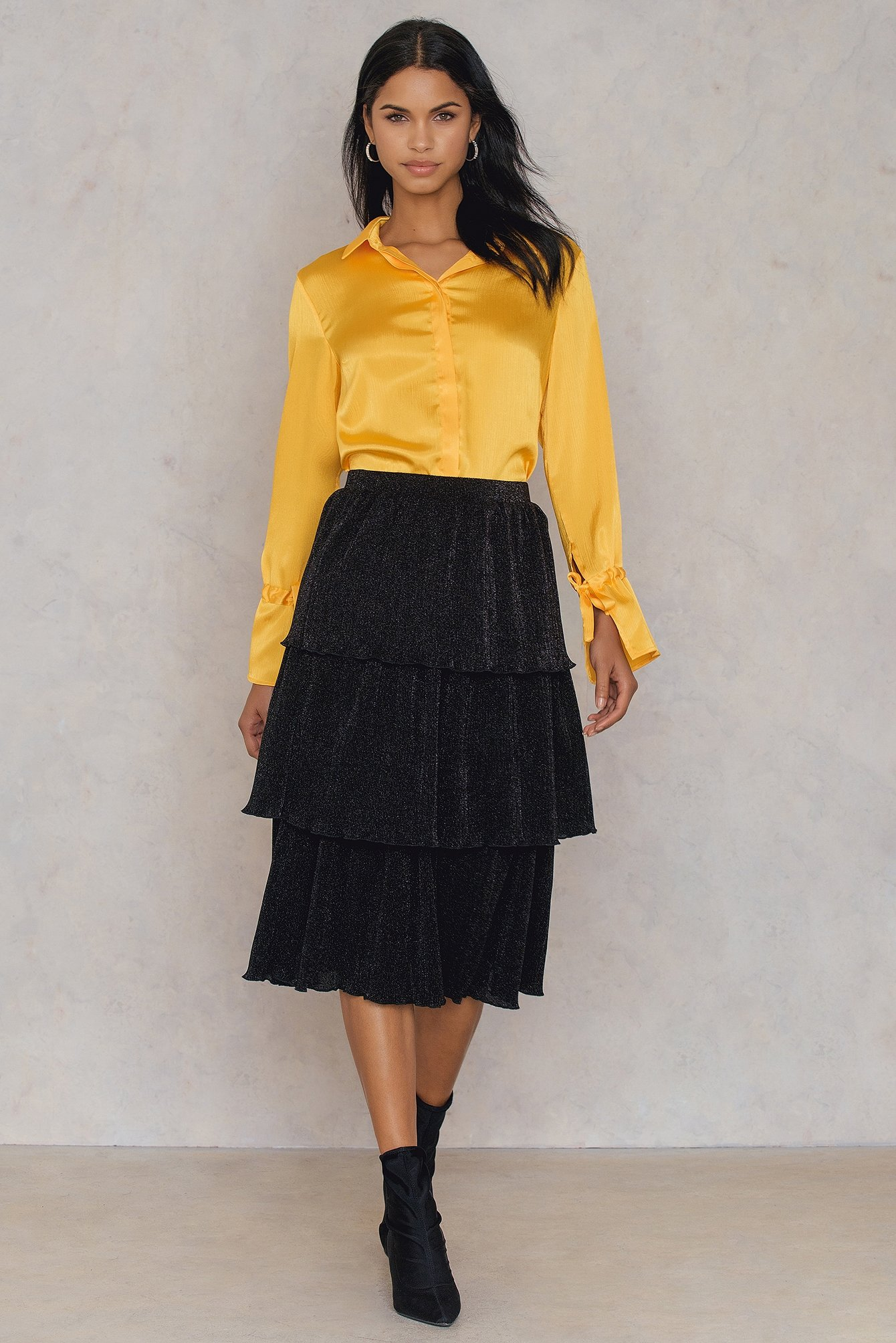 Triple Layers Sparkle Skirt
