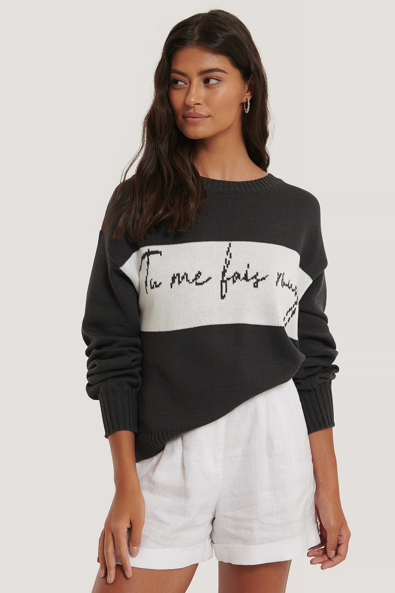 Black Tu Me Knitted Sweater