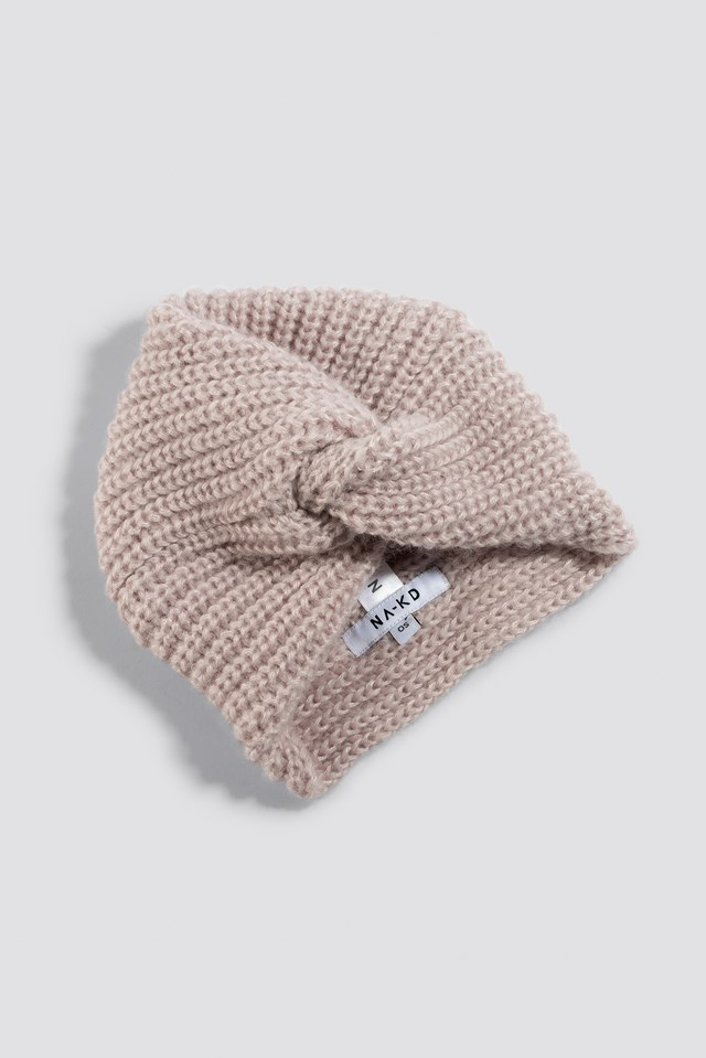 Turban Style Beanie Dusty Light Pink