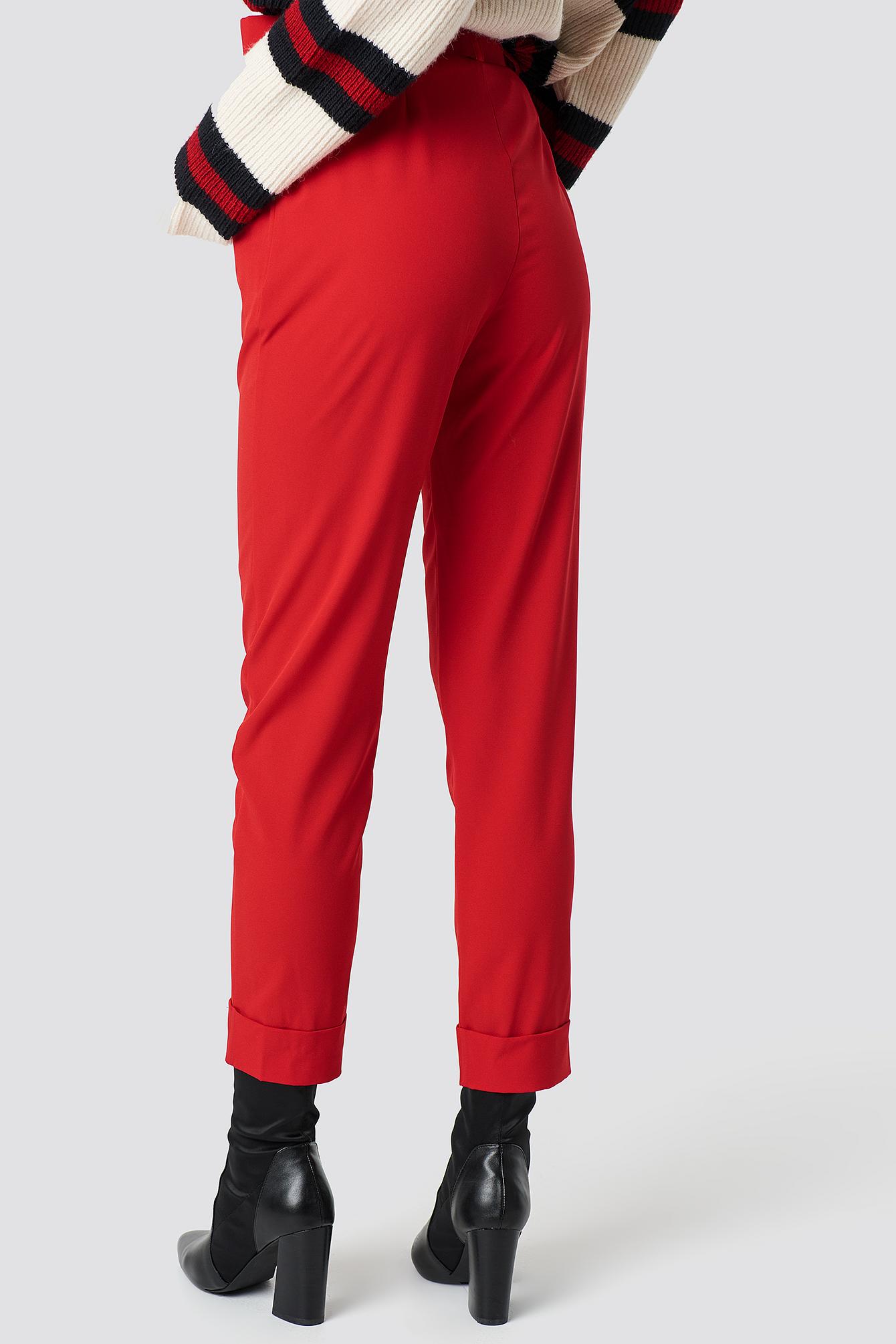 Spodnie z paskiem Turn Up NA-KD.COM