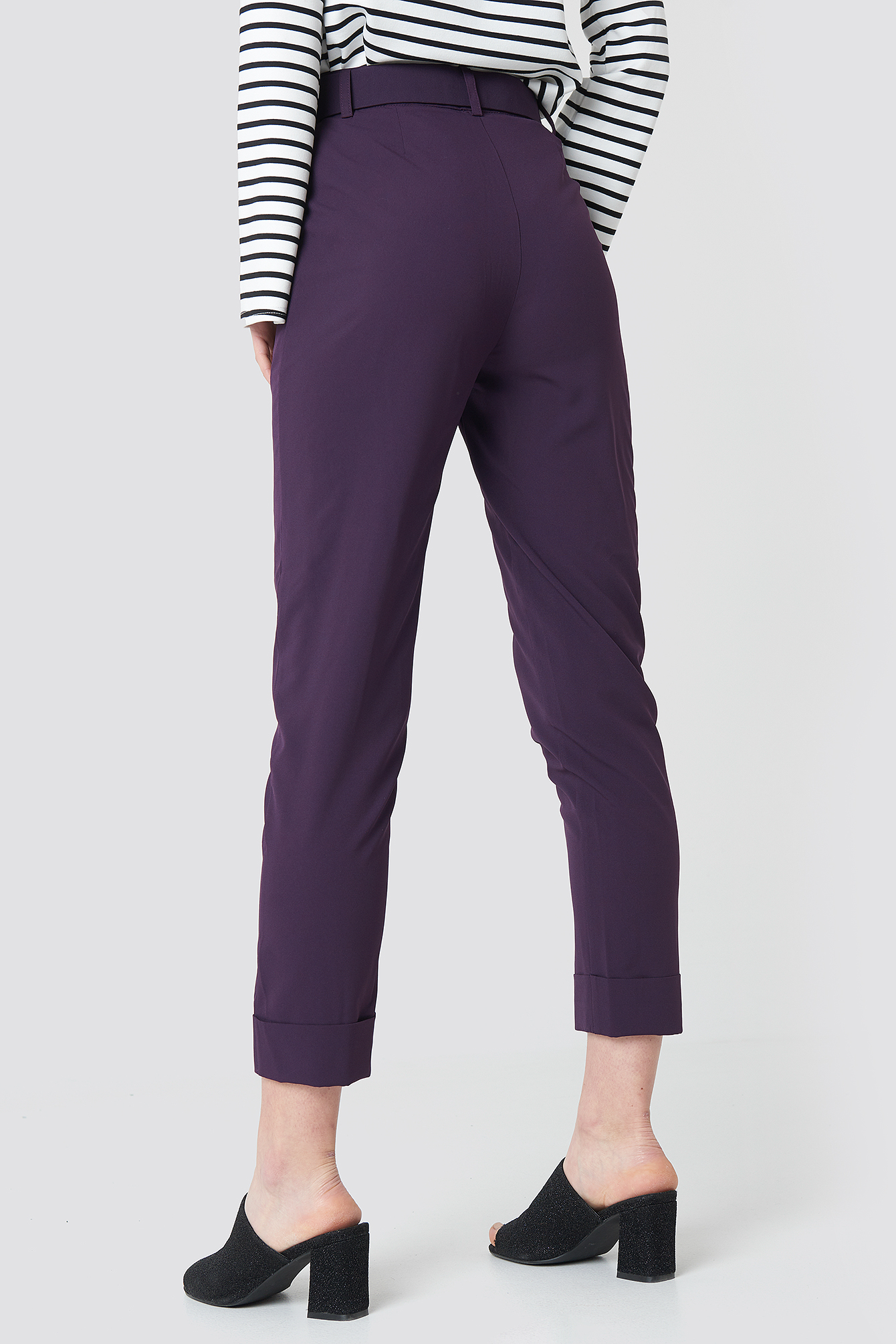 Turn Up Belted Pants NA-KD.COM