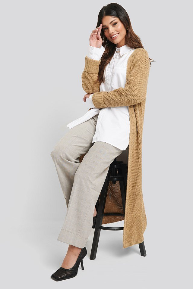Turn Up Cuff Open Front Cardigan NA-KD