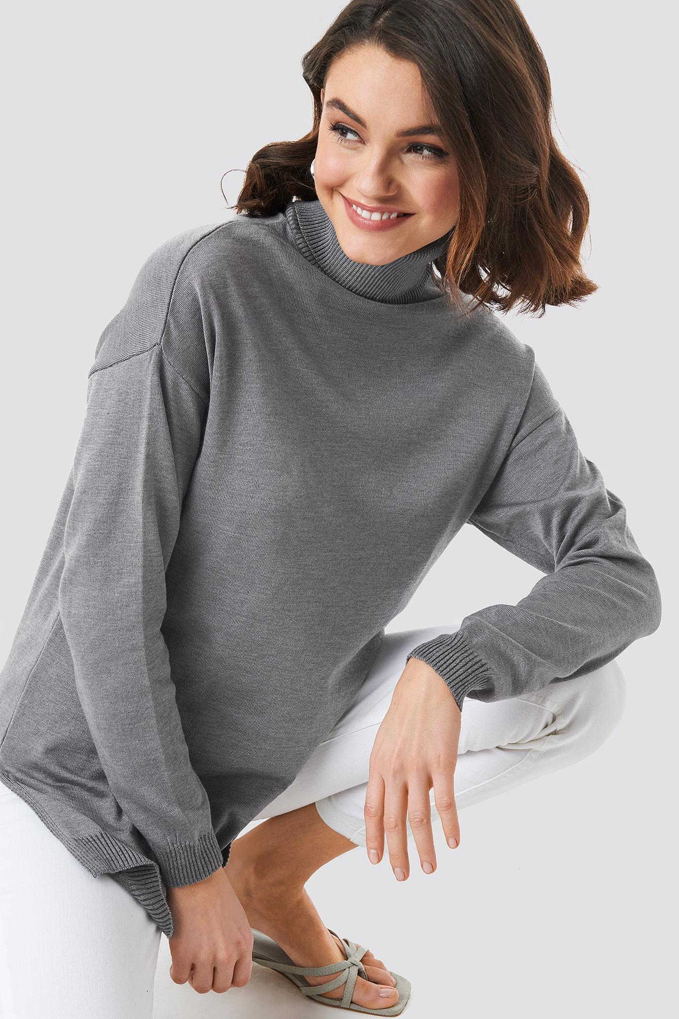 Turtle Neck Long Sweater NA-KD.COM