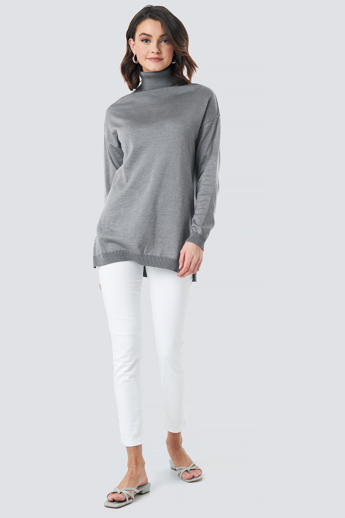 Turtle Neck Long Sweater NA-KD.COM