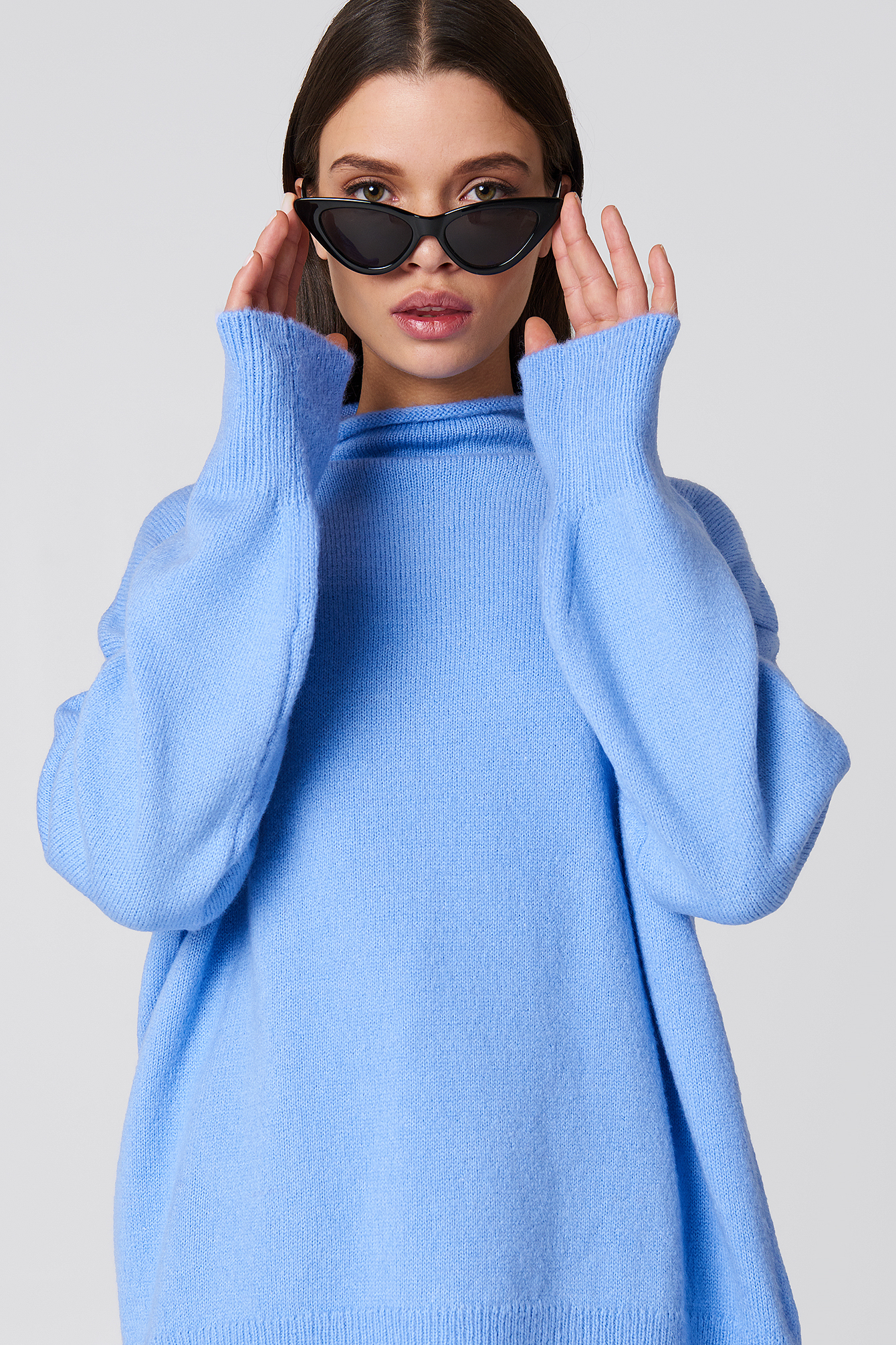 Turtle Neck Oversize Knitted Sweater NA-KD.COM