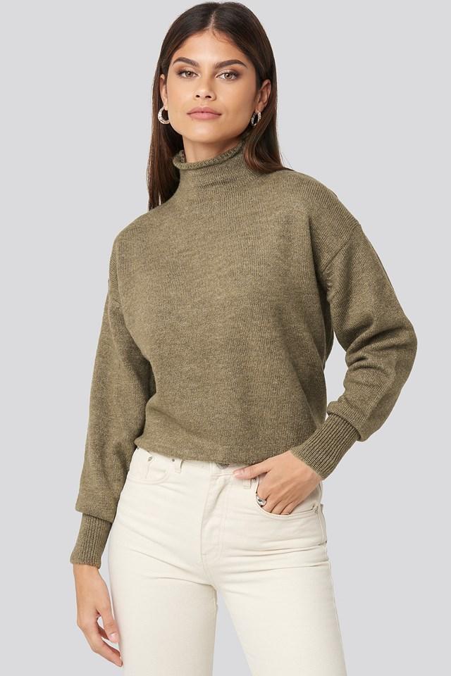 Turtleneck Oversized Knitted Sweater Mole