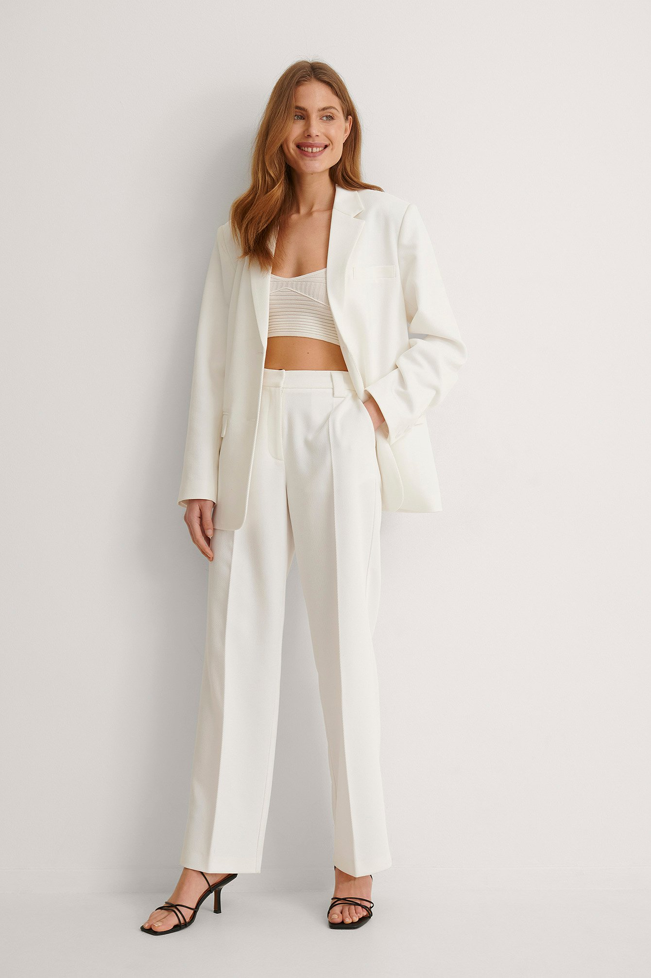 White Twill Suit Pants