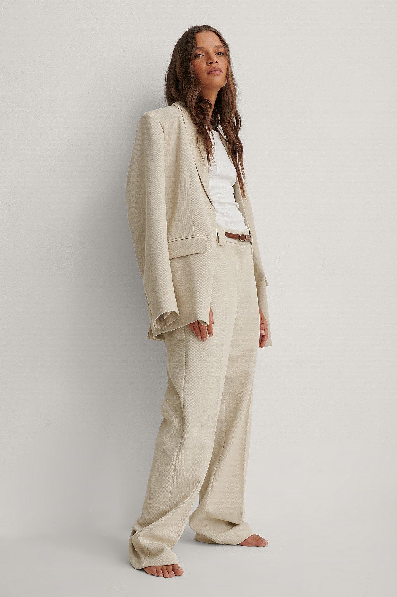 na-kd classic -  Klassische Anzughose - Beige