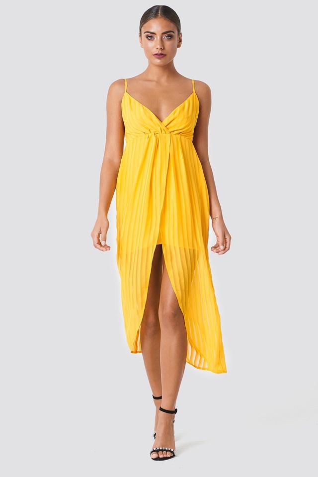 Twist Front Strap Dress Citrus