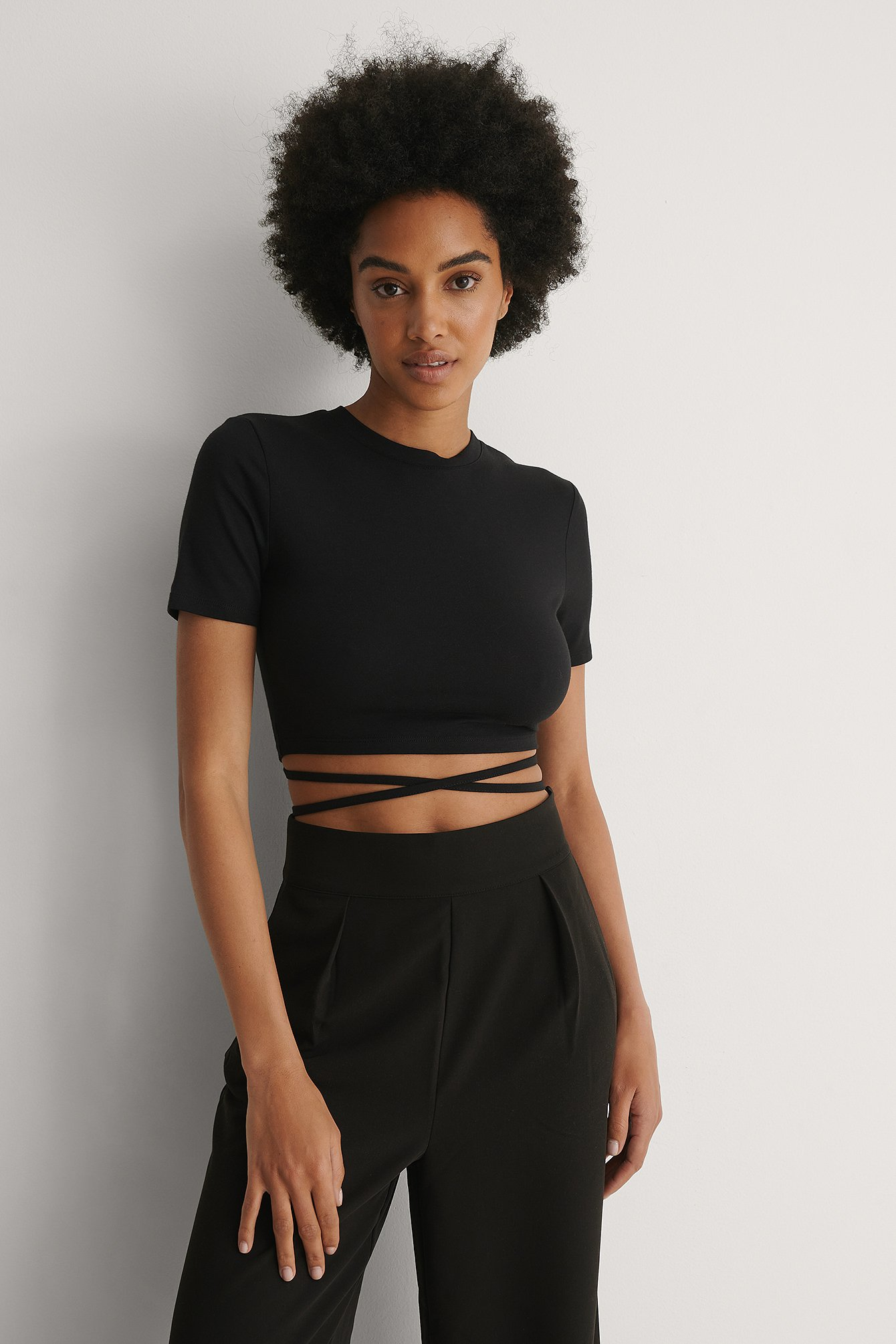 Black Twist Strap Top