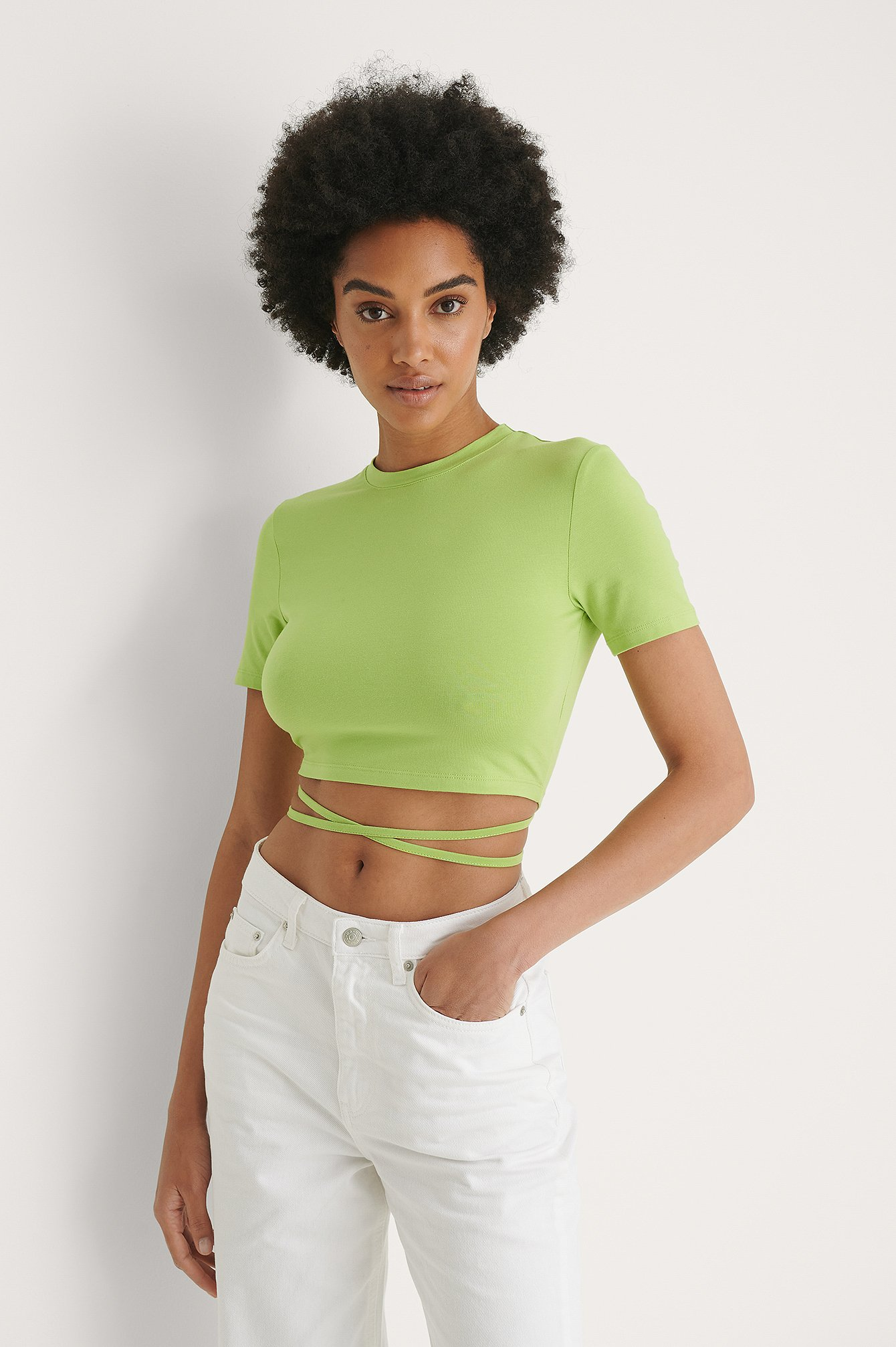 Green Twist Strap Top
