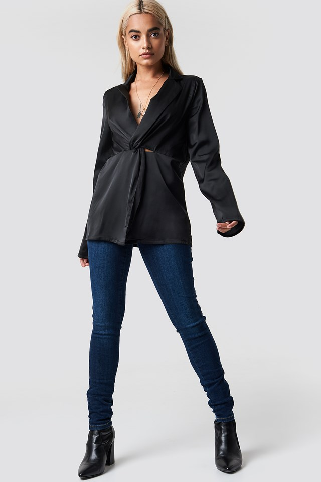 Twisted Front Blouse NA-KD.COM