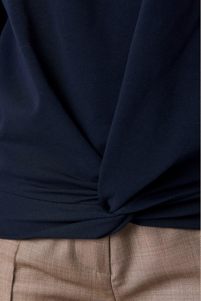 Twisted Front Sweatshirt Navy