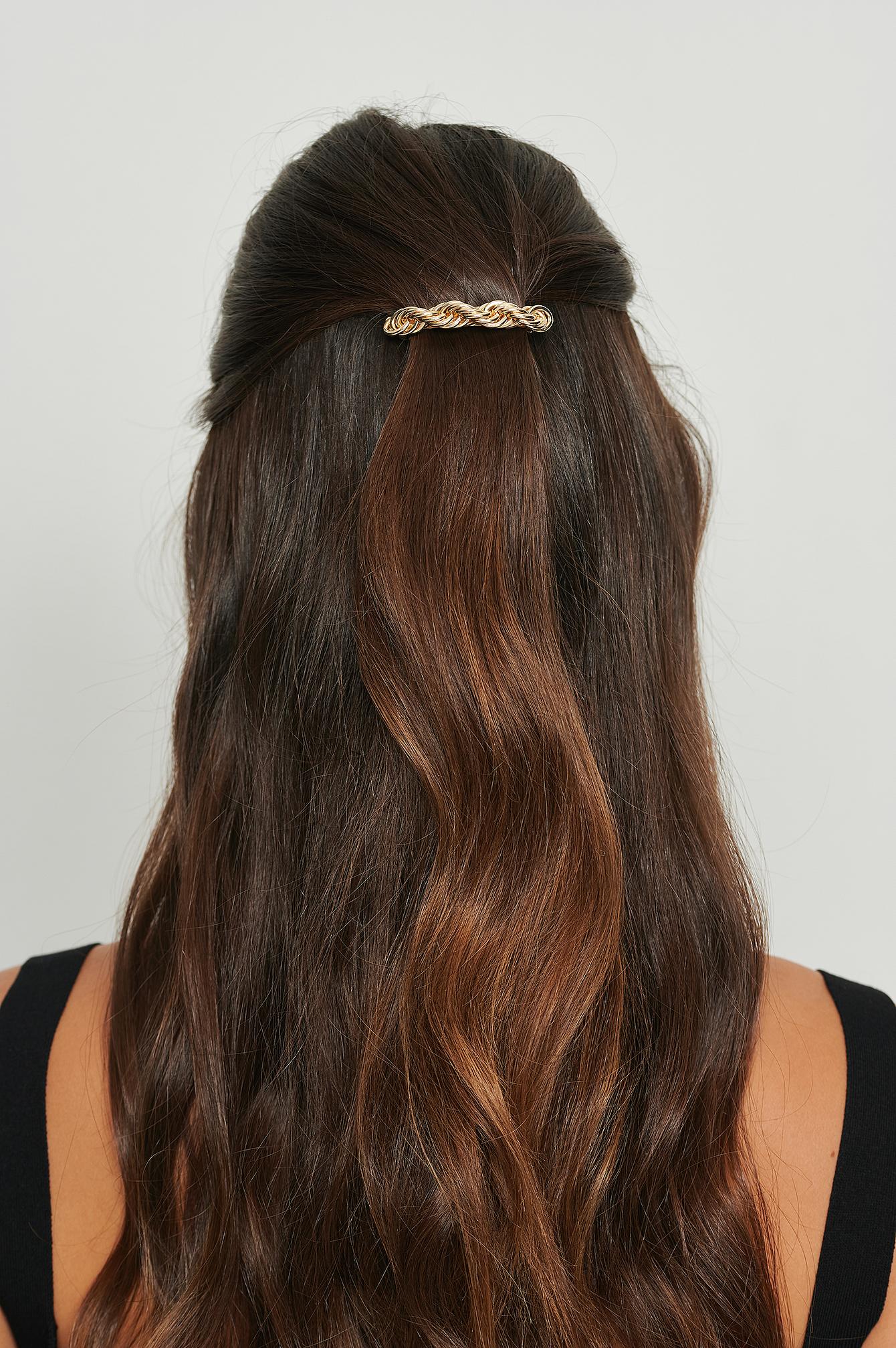 na-kd accessories -  Gedreht haarspange - Gold