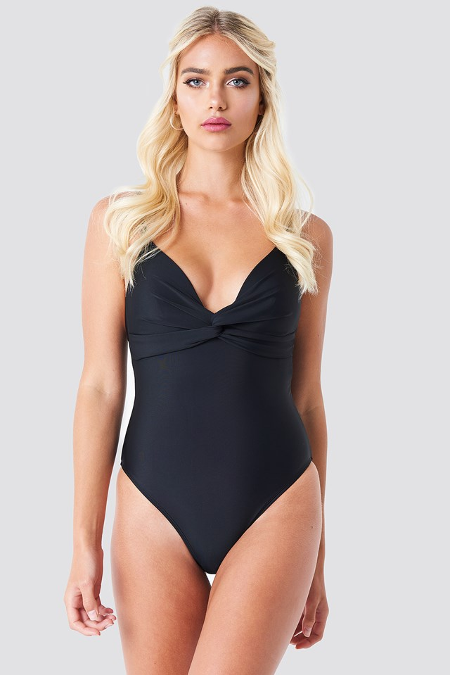 Twisted Knot Swimsuit Black