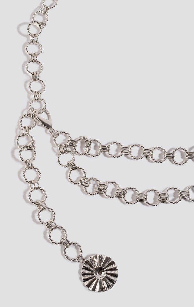 Twisted Links Chain Belt Silver