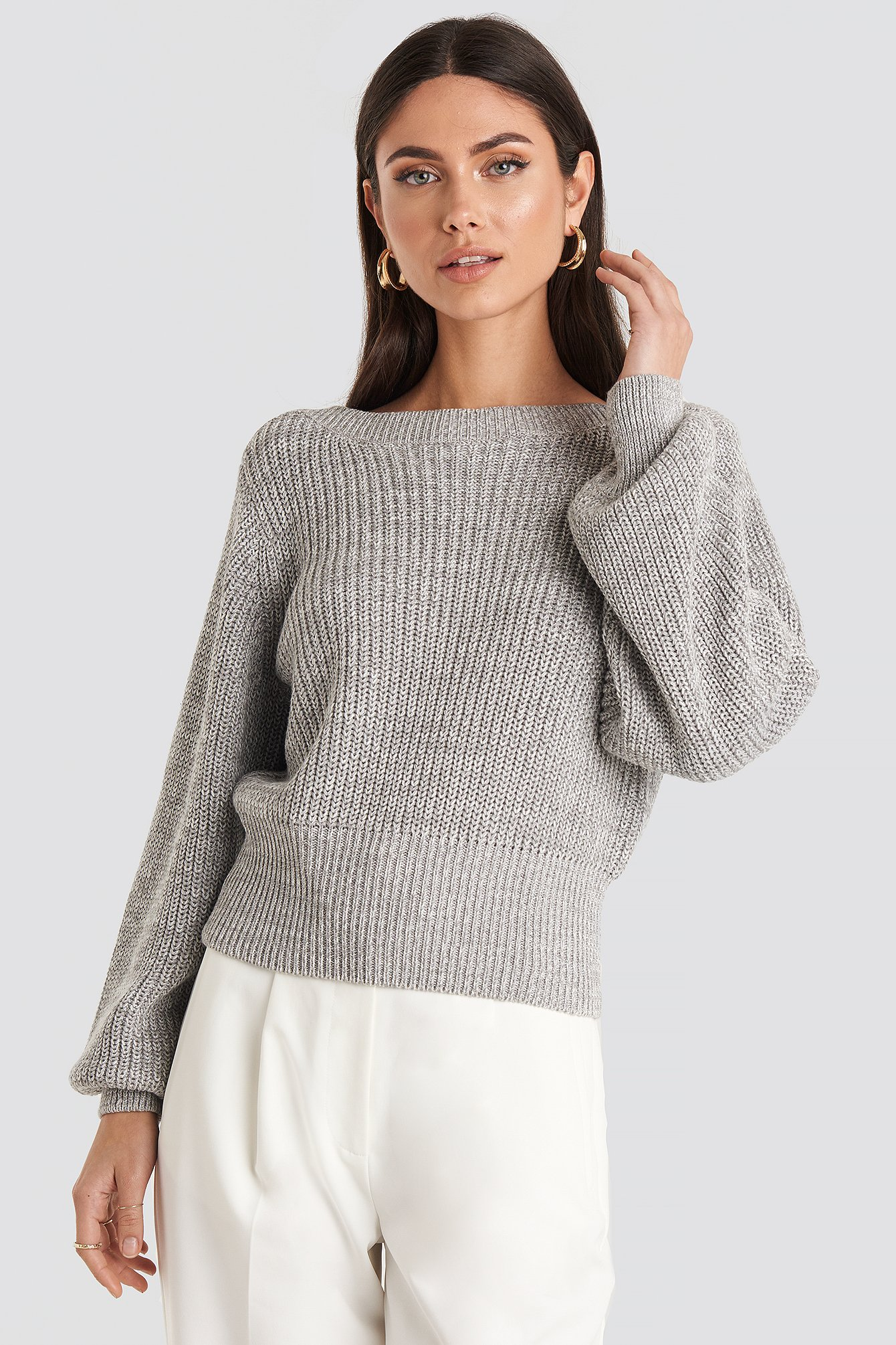 Twisted Pullover Grå by Na Kd