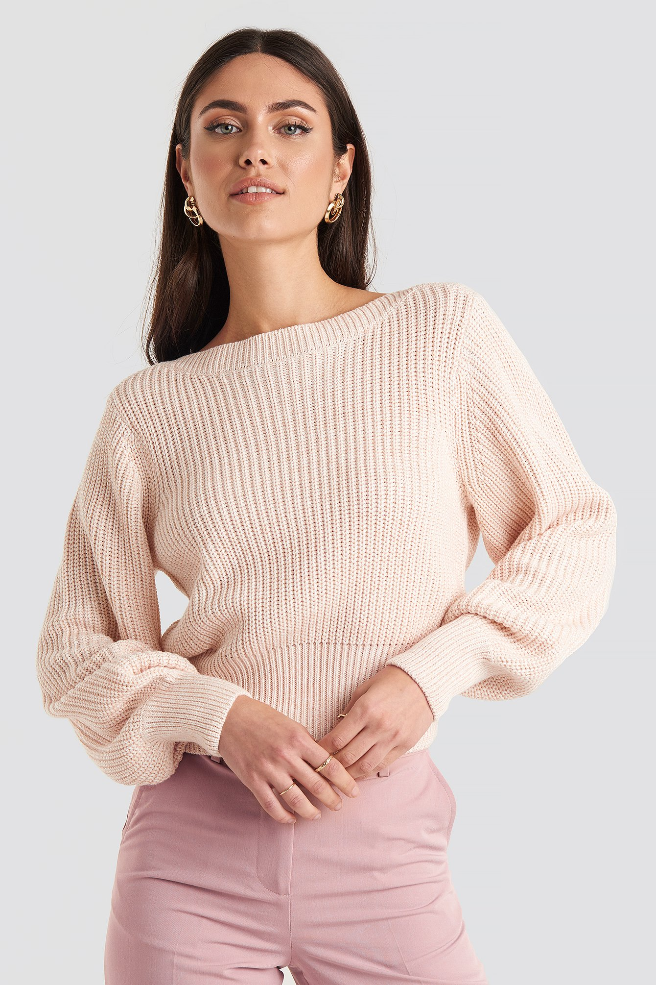 Twisted Pullover Lyserød by Na Kd
