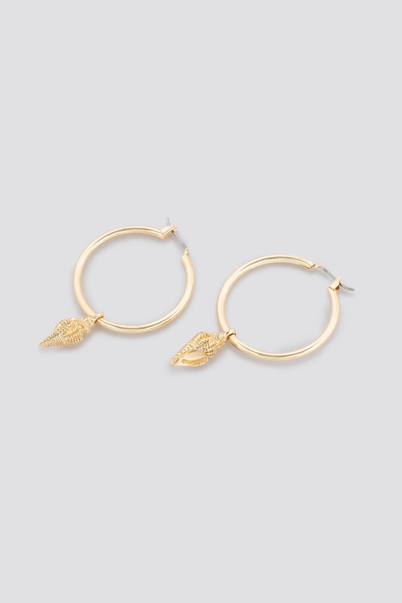 Twisted Shell Hoop Earrings NA-KD.COM