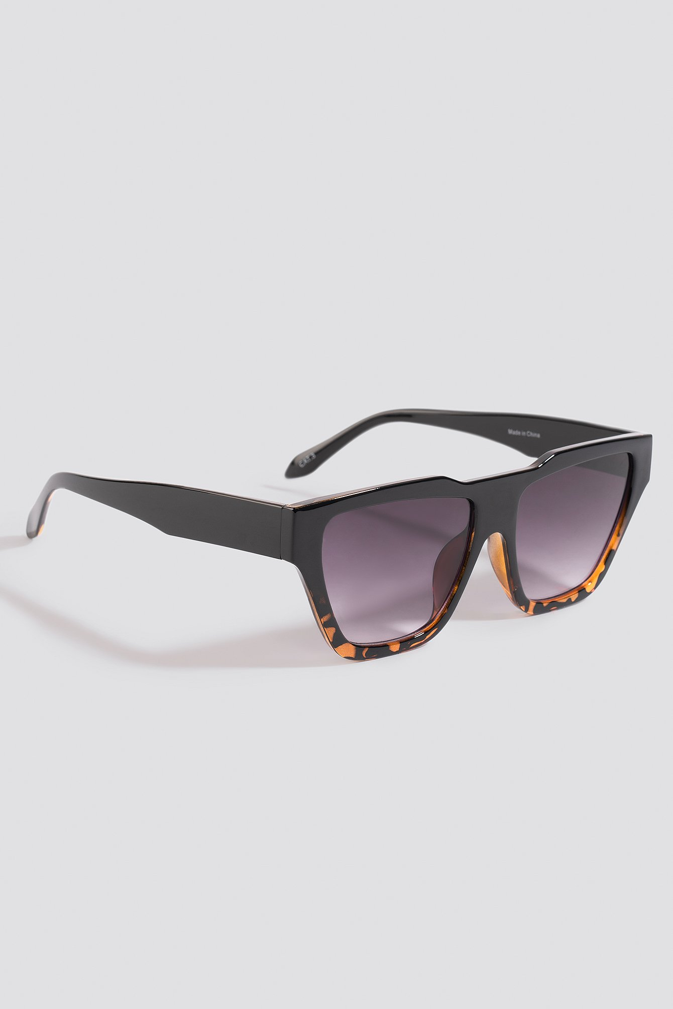 Black/Brown Two-Toned Shield Sunglasses