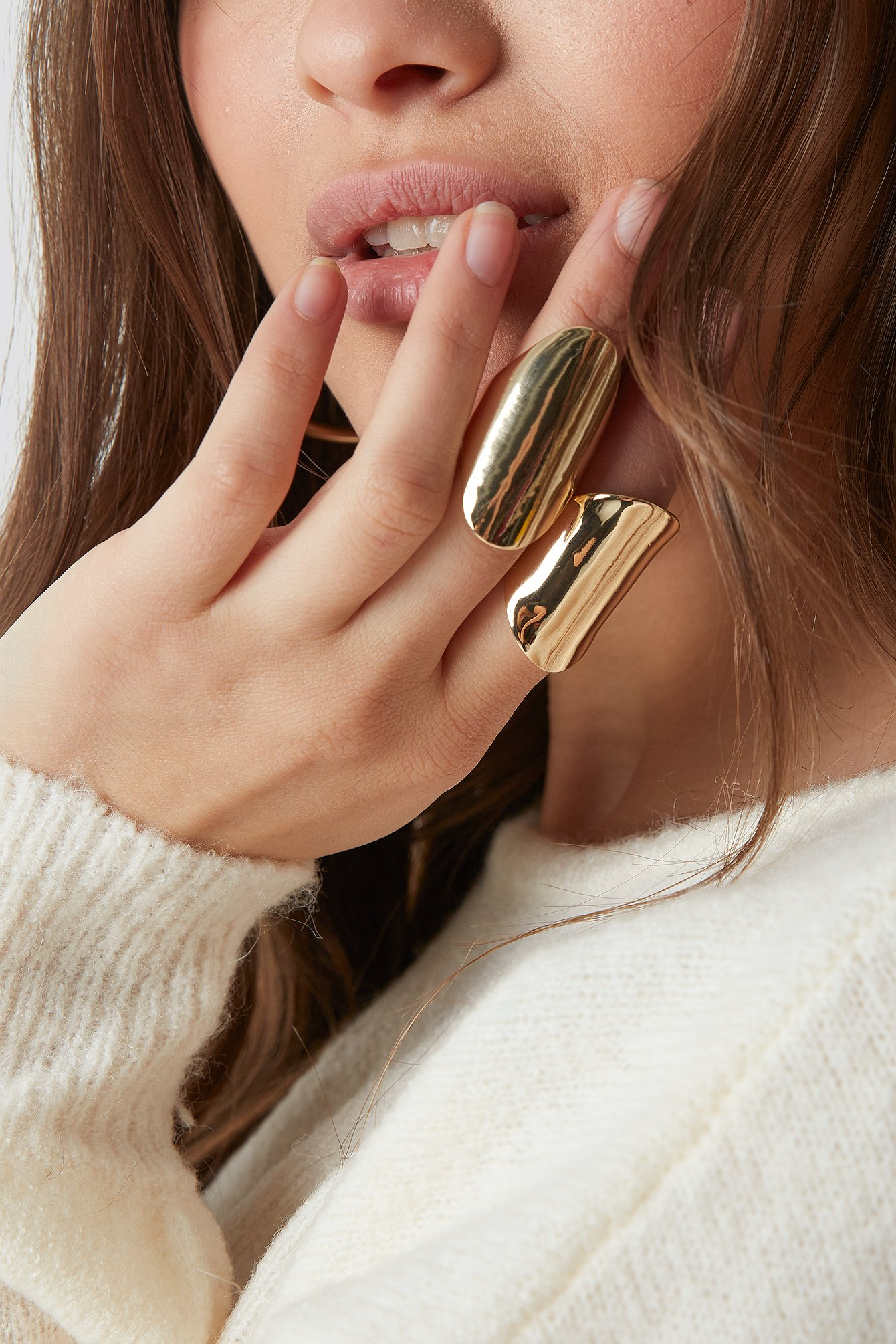 Two Asymmetric Chunky Rings NA-KD.COM