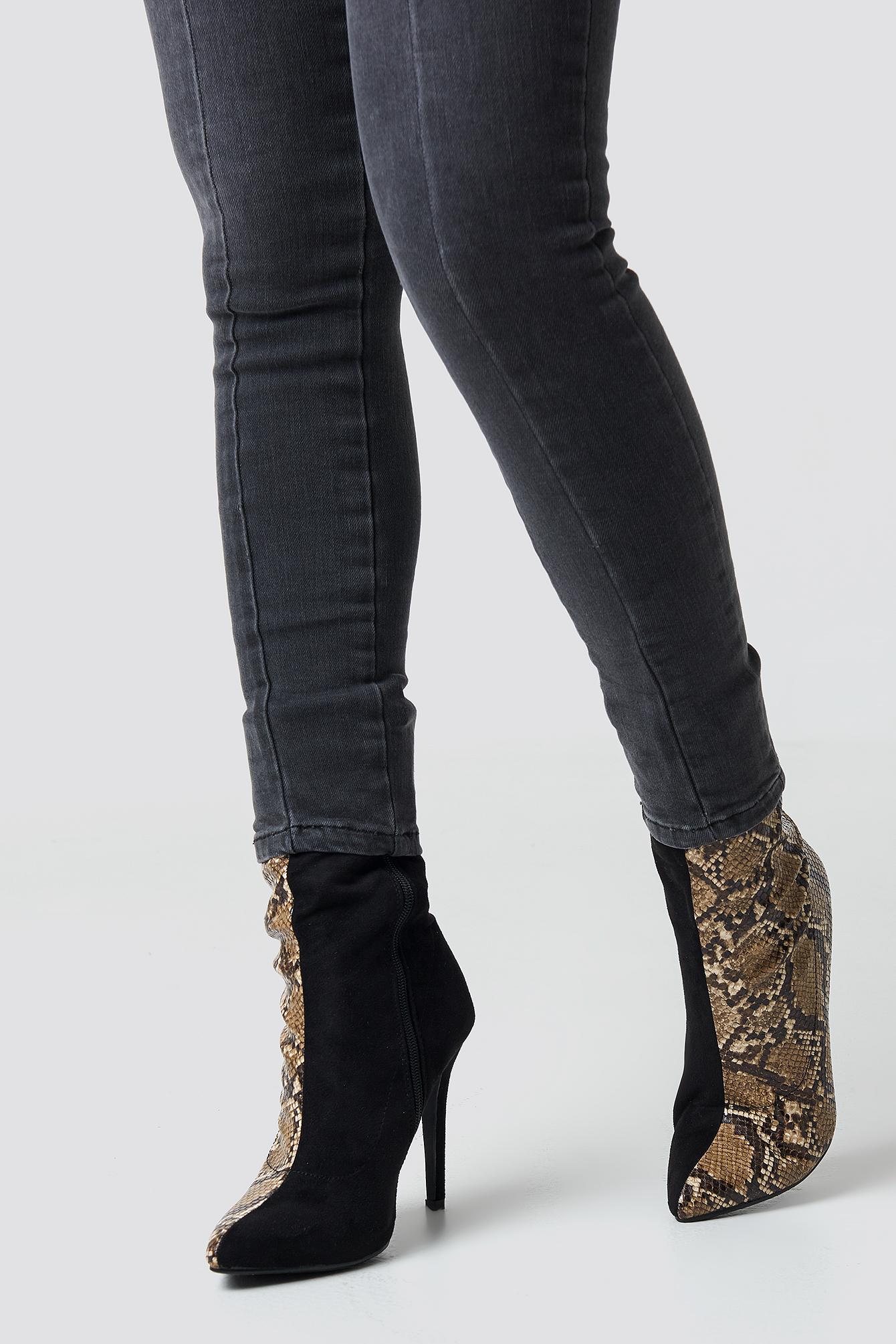 Two Colour Stiletto Boot NA-KD.COM