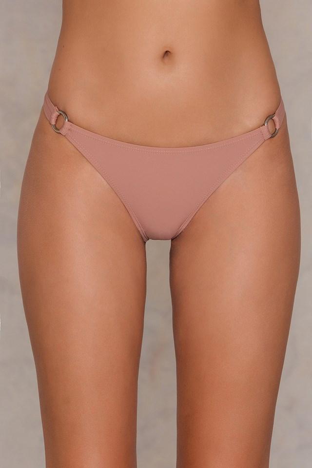 Two Ring Bikini Panty Dusty Dark Pink