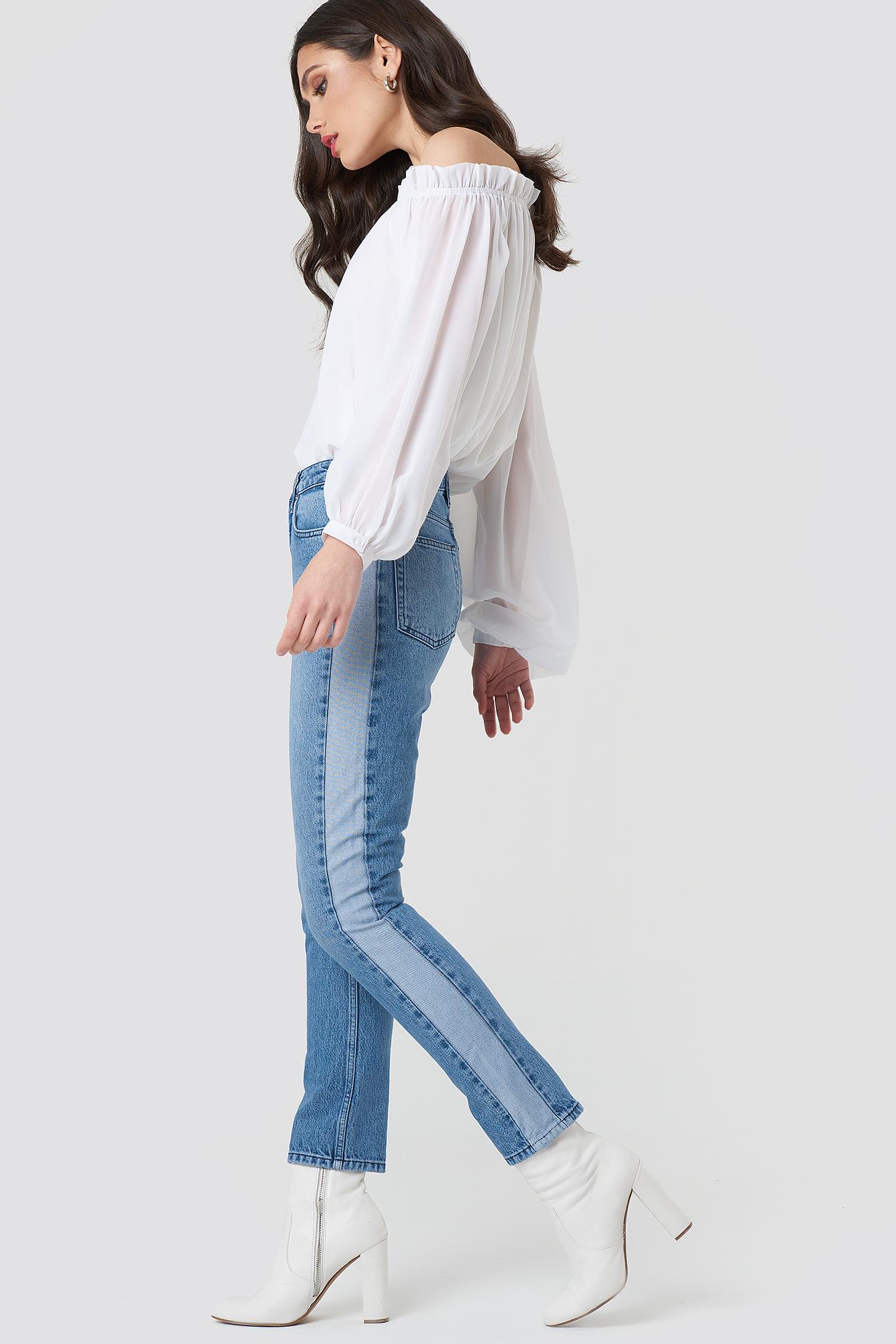 Two Tone Side Panel Jeans NA-KD.COM