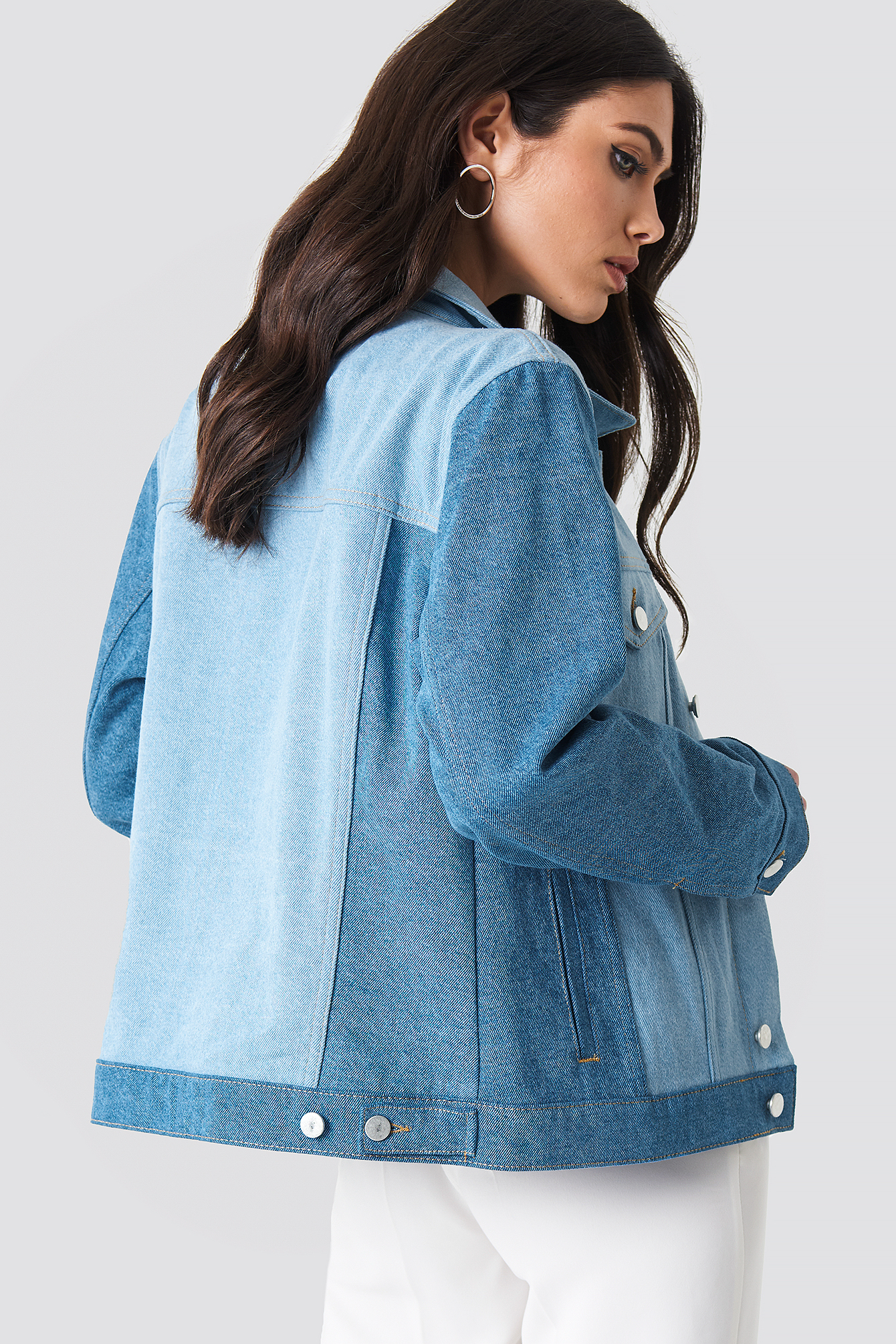 Two Toned Denim Jacket NA-KD.COM