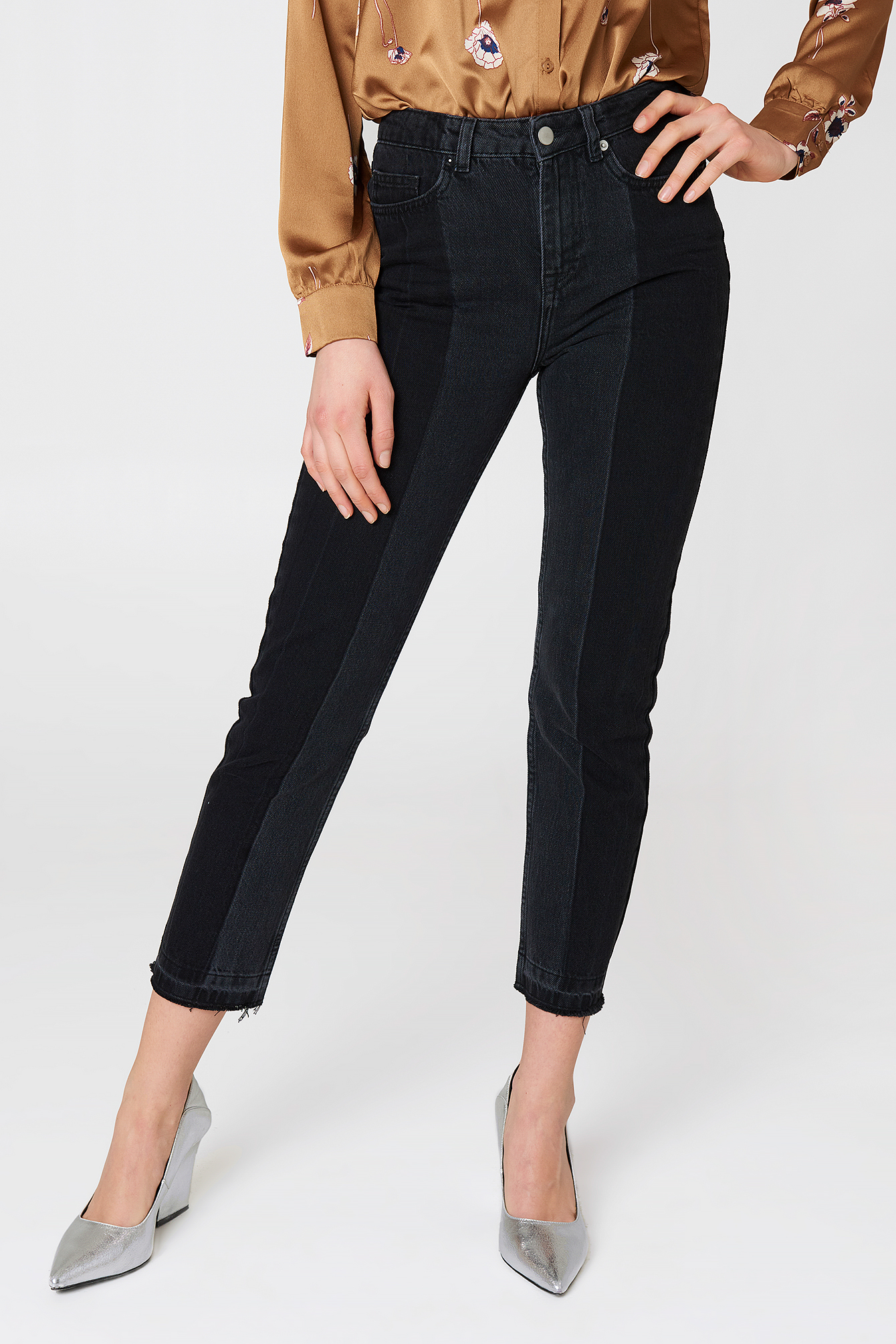 Two Wash Panel Jeans NA-KD.COM