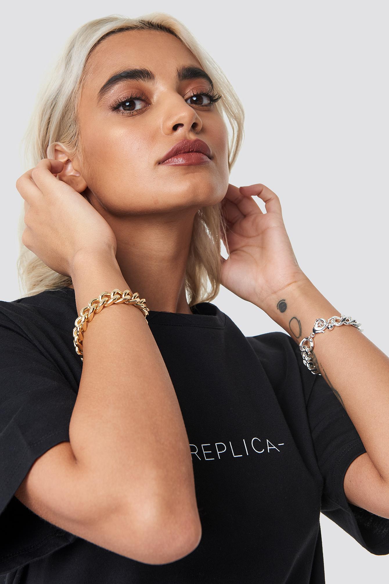 Two Wide Chain Bracelets NA-KD.COM