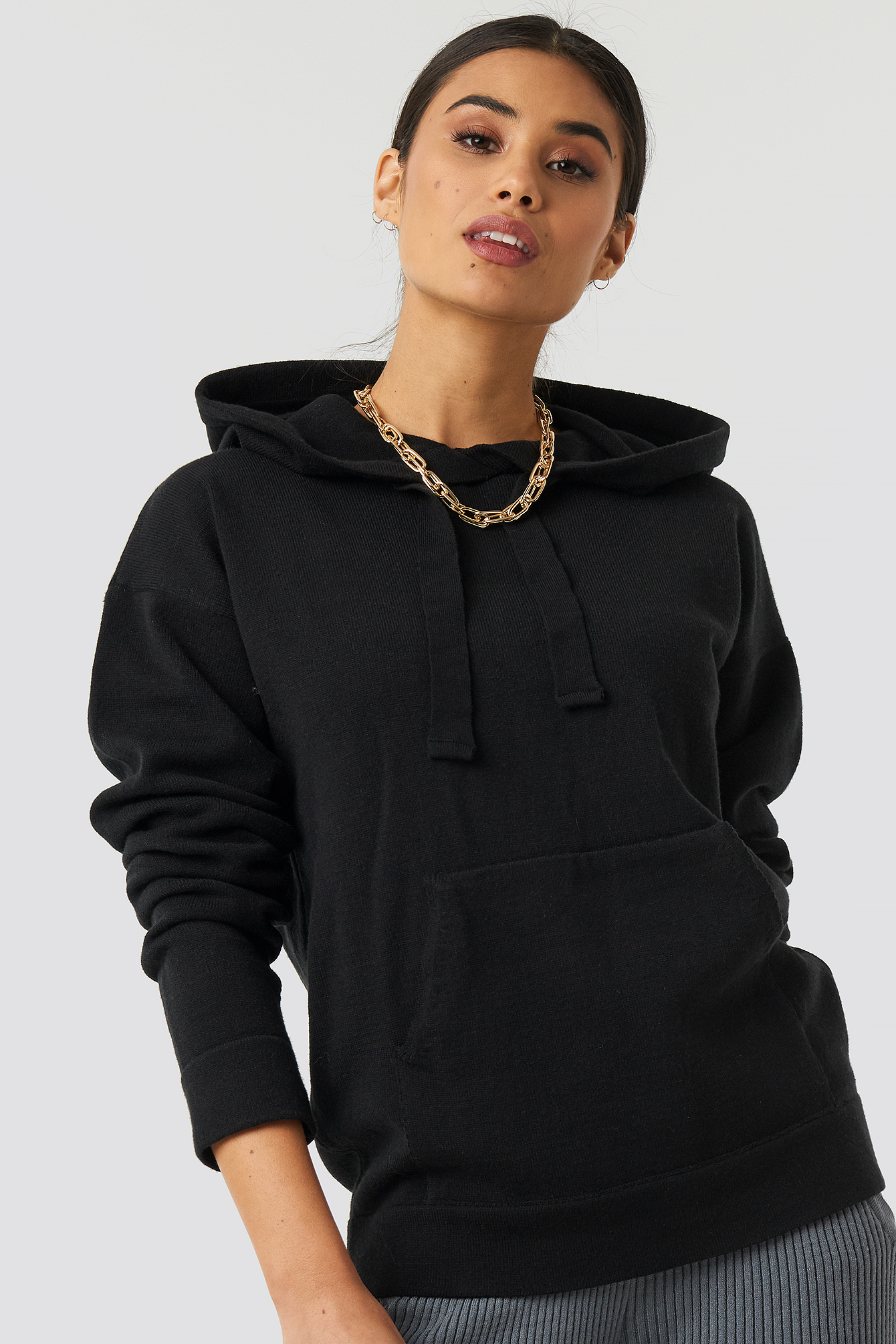 xle the label -  Ty Knitted Hoodie - Black