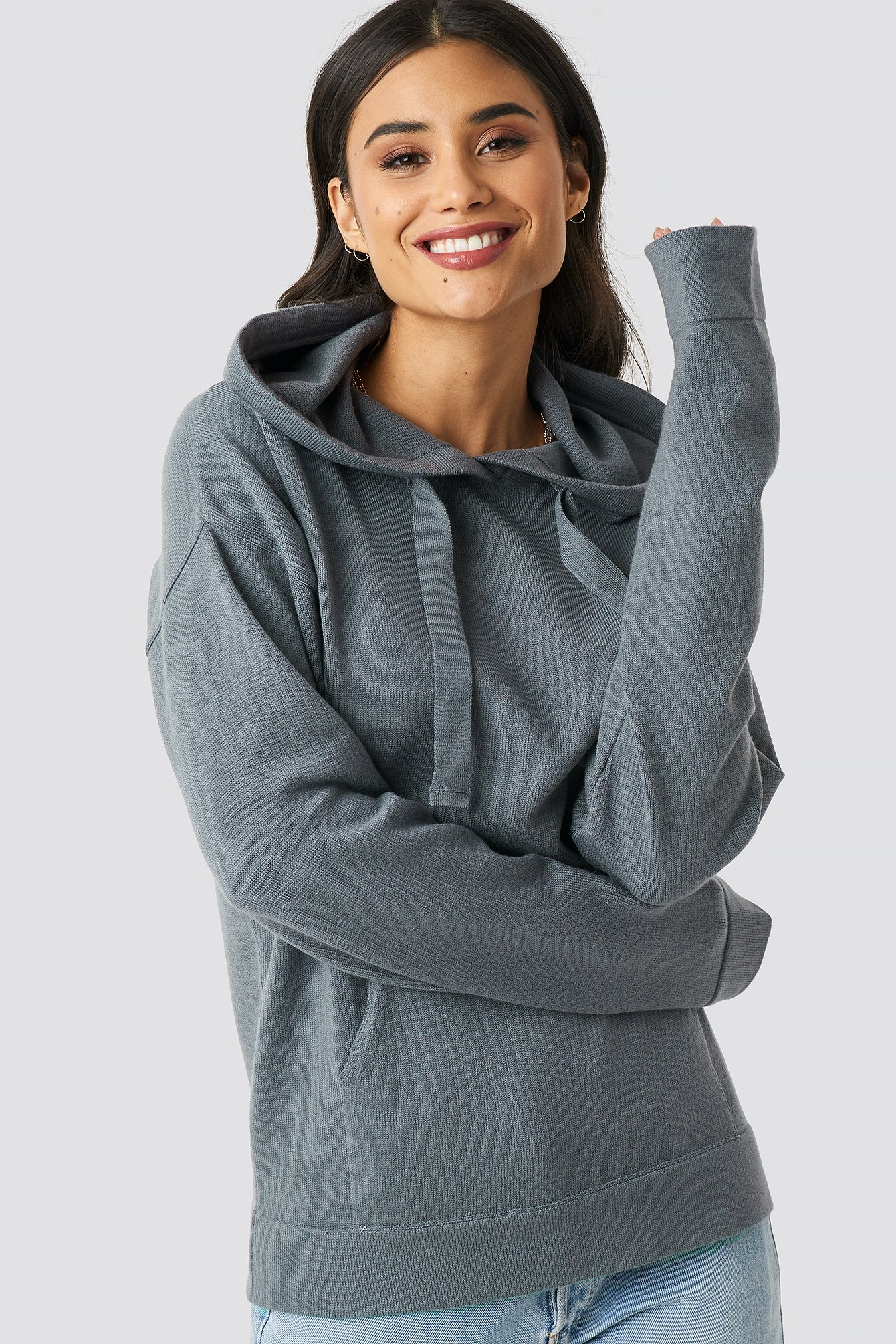 xle the label -  Ty Knitted Hoodie - Grey