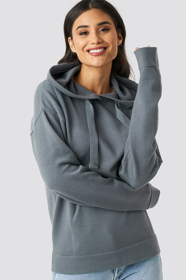 Ty Knitted Hoodie Grey