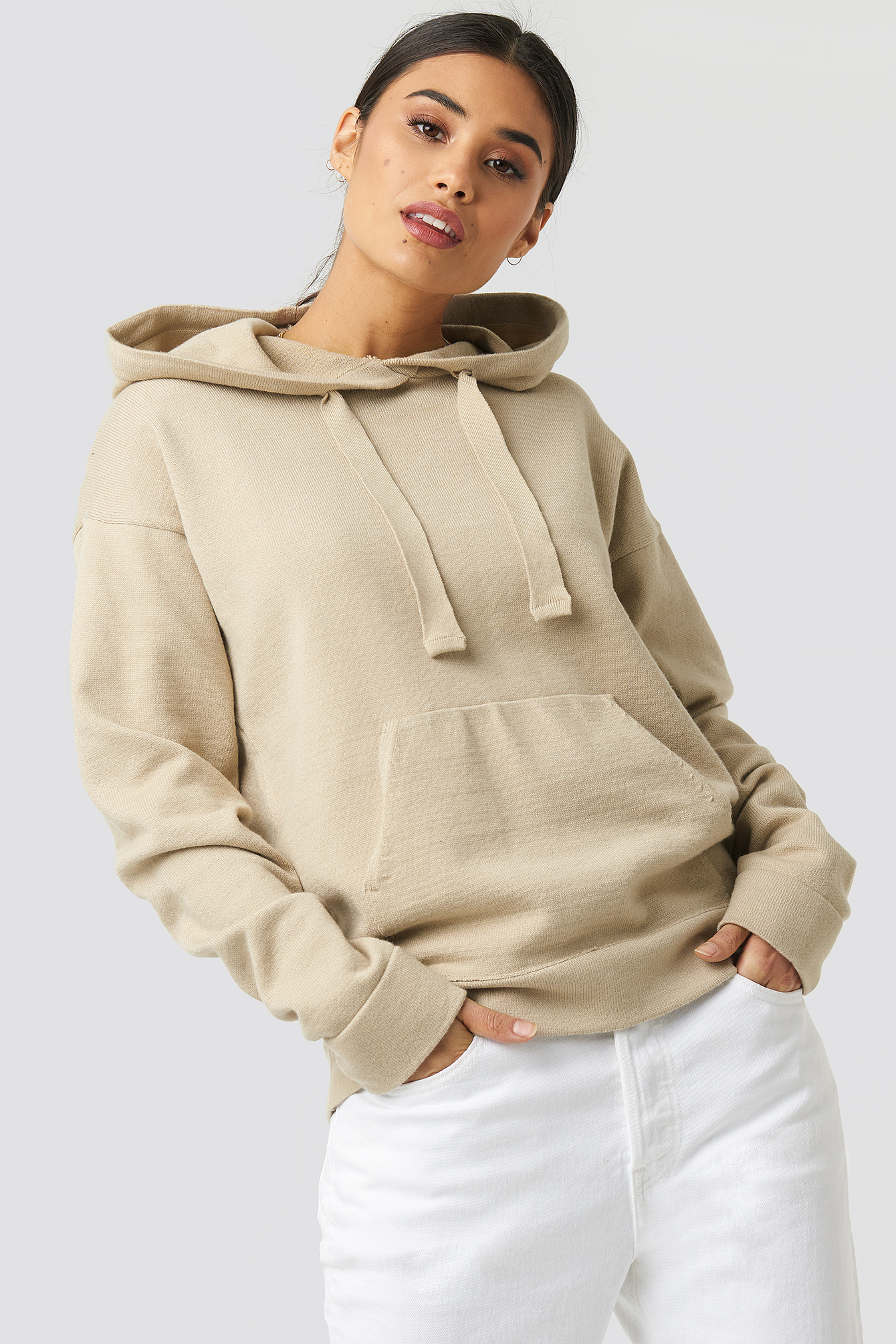 xle the label -  Ty Knitted Hoodie - Beige