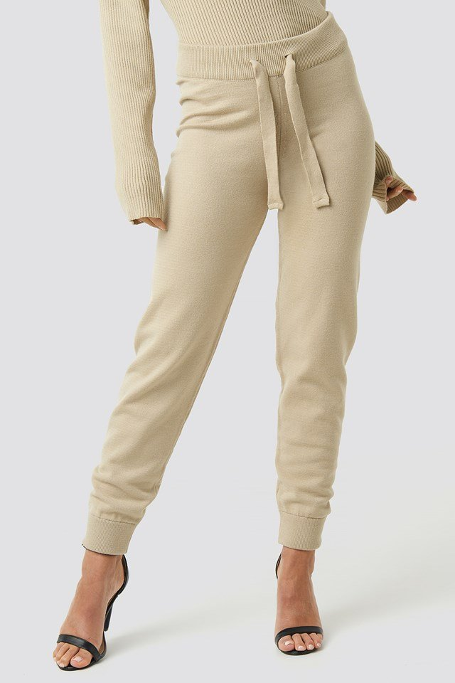 Ty Knitted Pants Light Beige