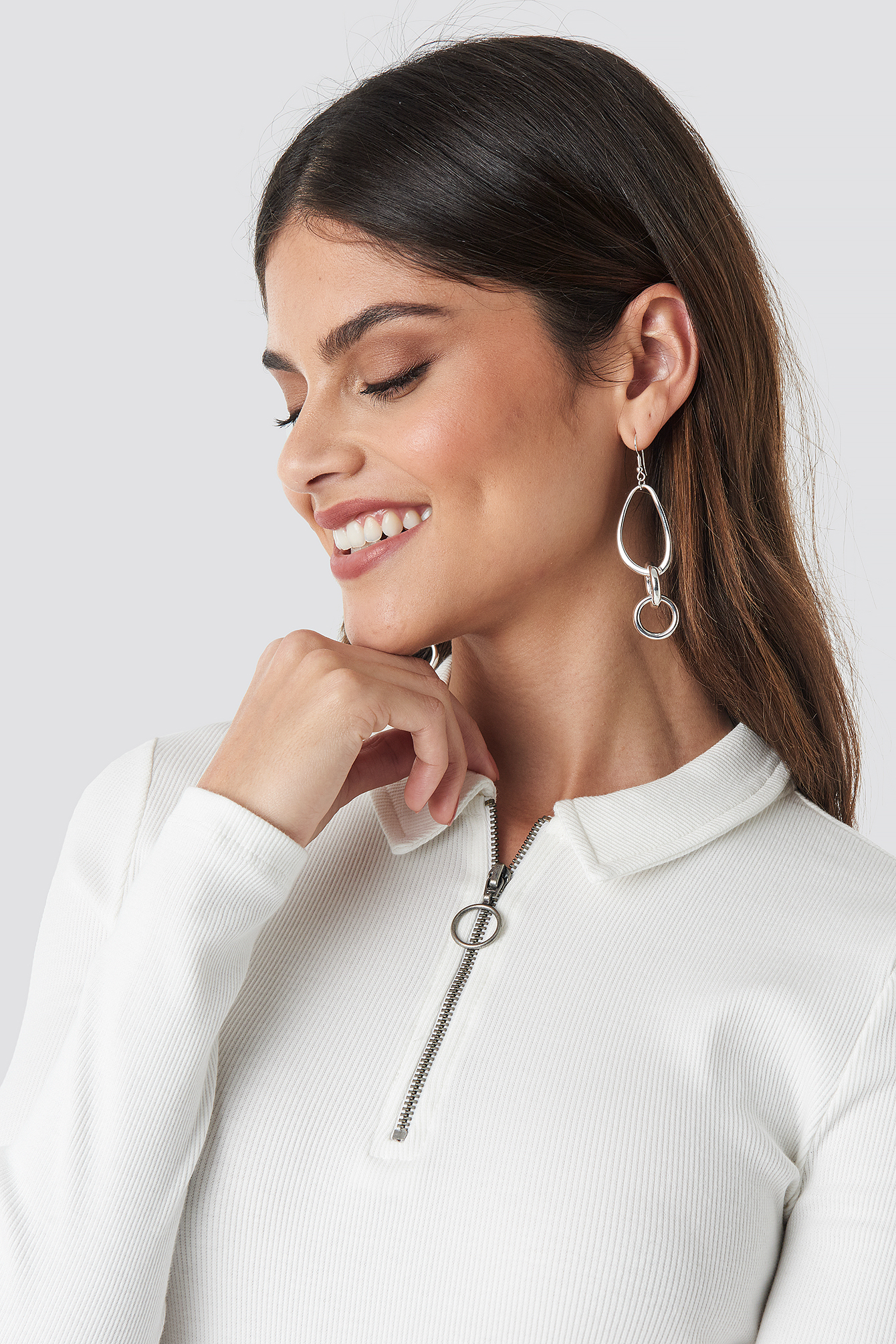 Uneven Connected Earrings NA-KD.COM