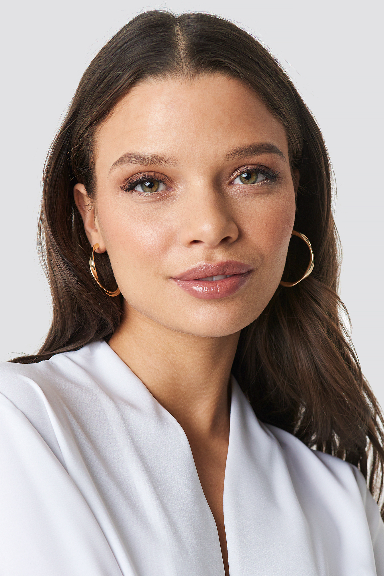 Uneven Open Hoop Earrings NA-KD.COM