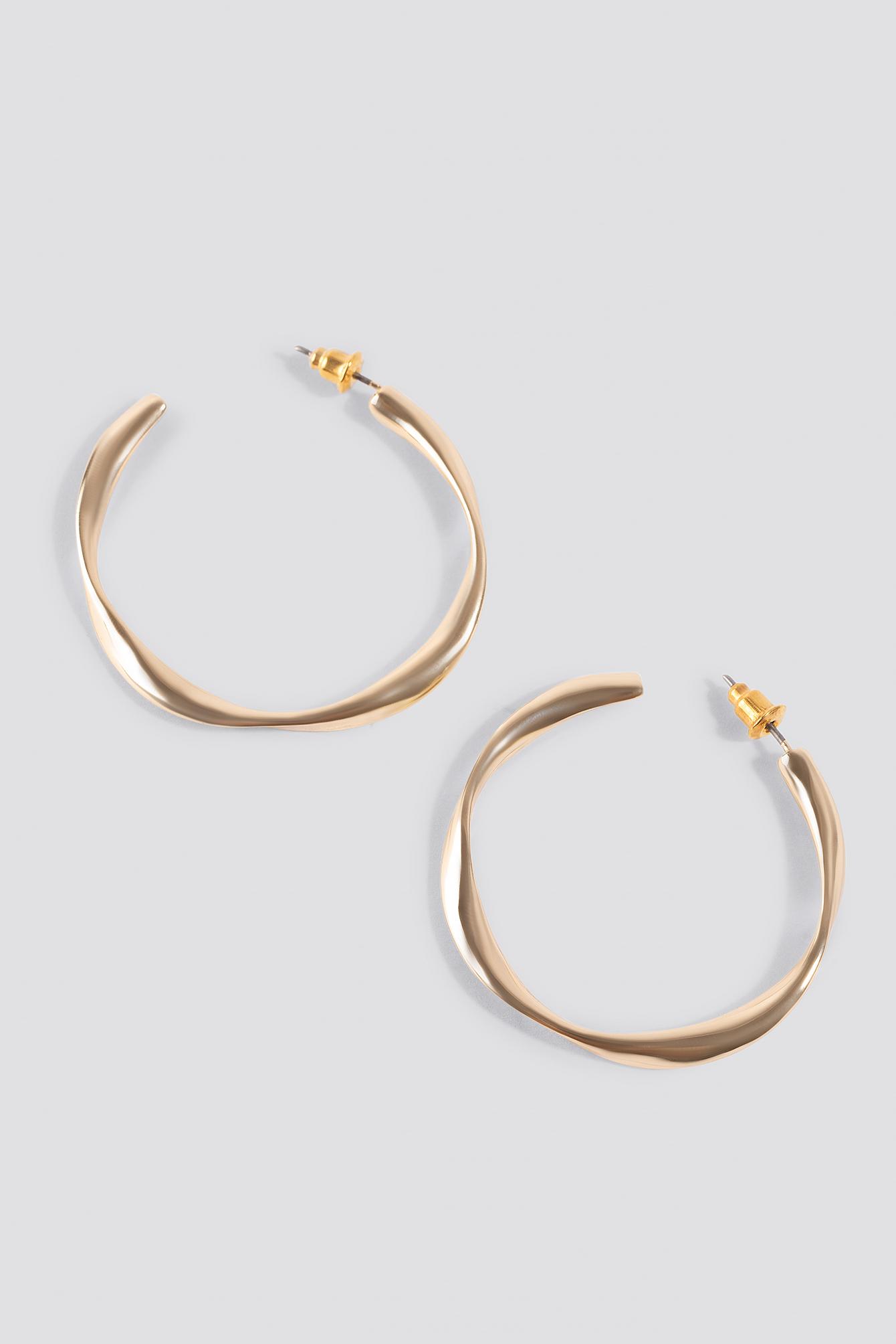Uneven Open Hoop Earrings NA-KD.COM