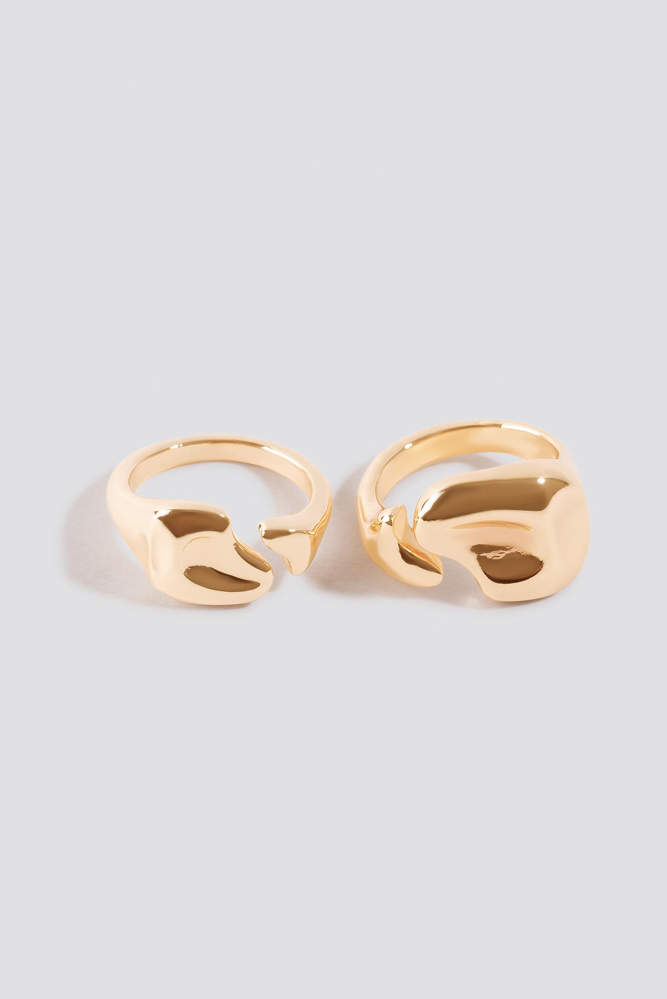 Uneven Open Ring Set NA-KD.COM