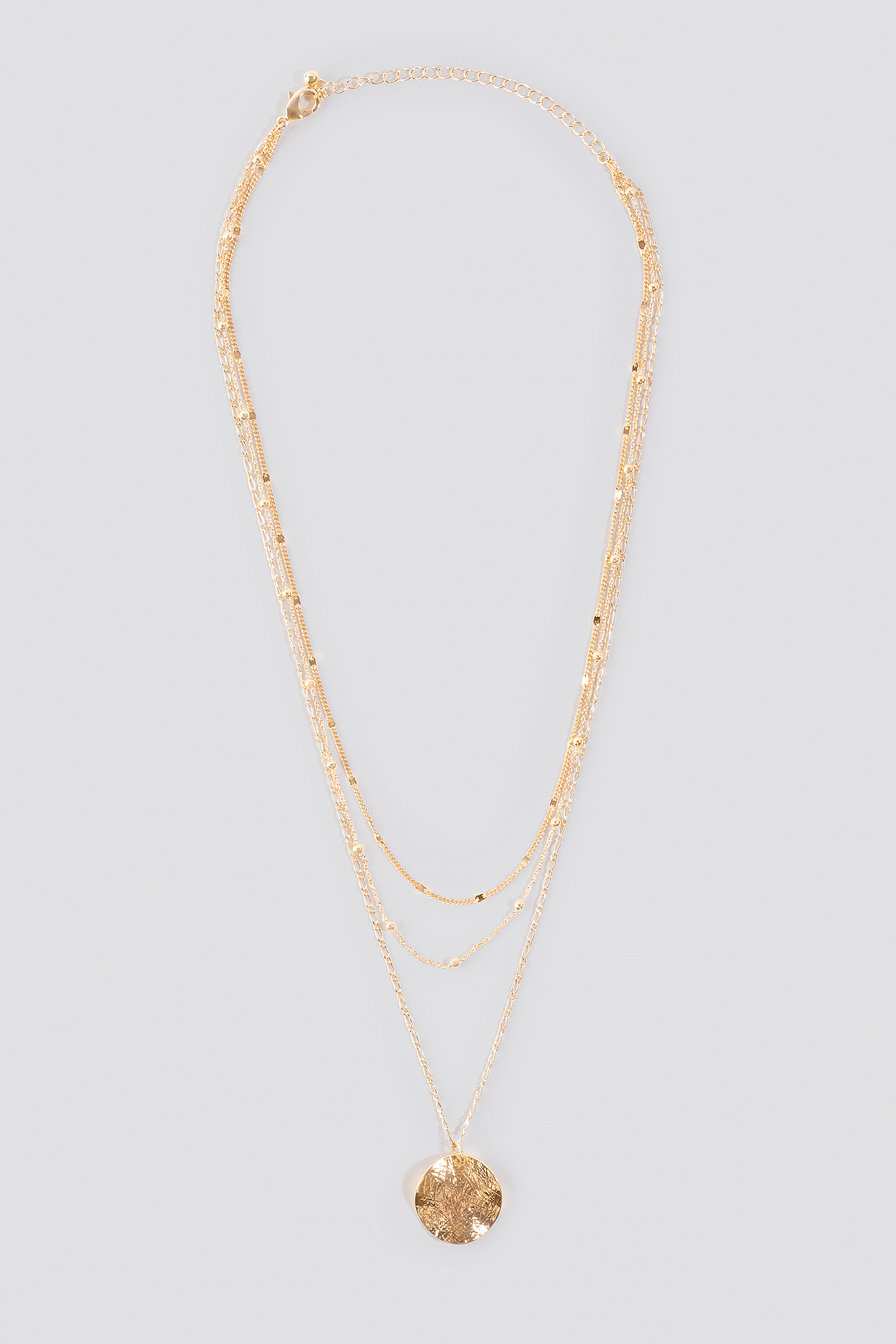 Uneven Plate Layered Necklace NA-KD.COM