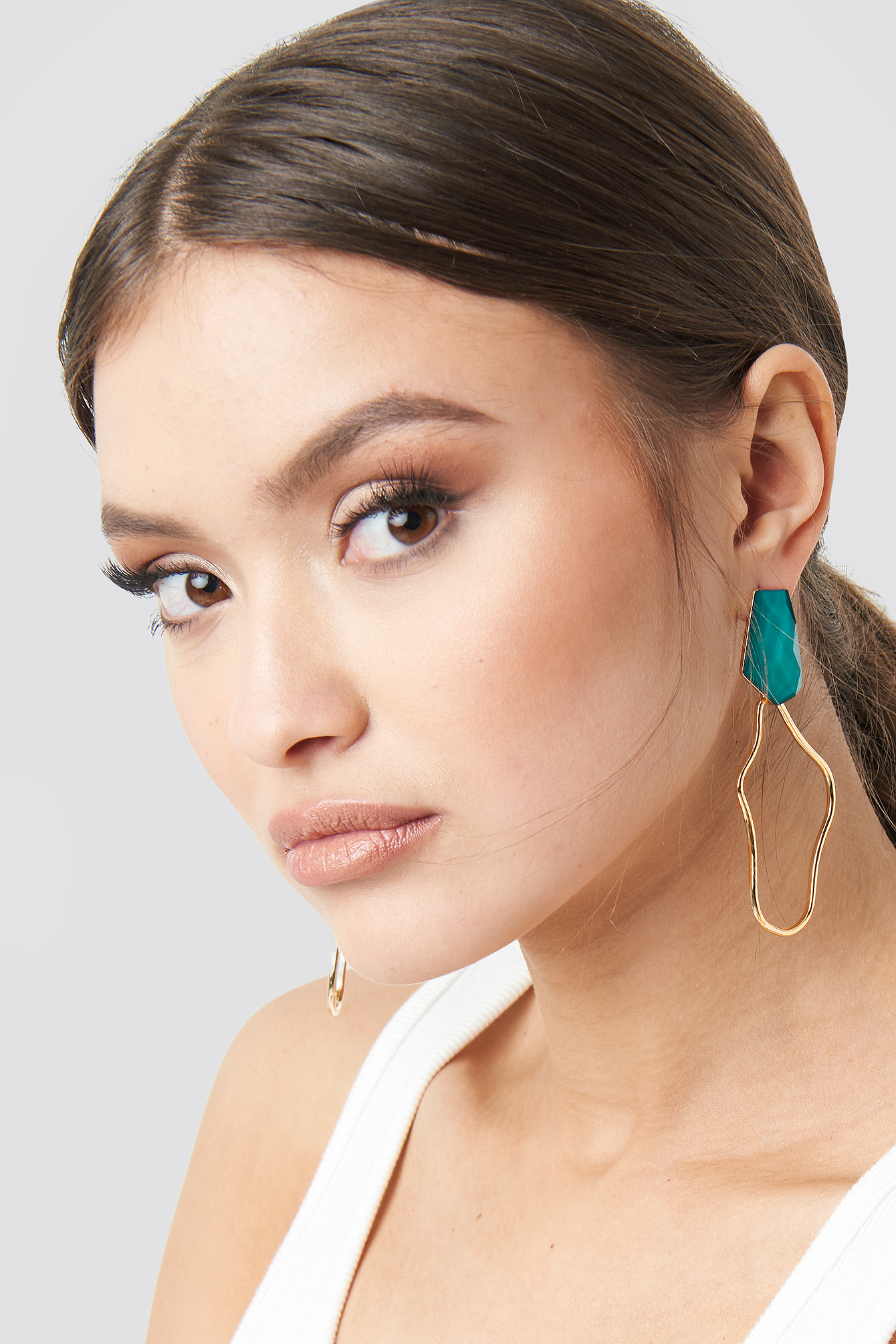 Gold Uneven Wire Earrings
