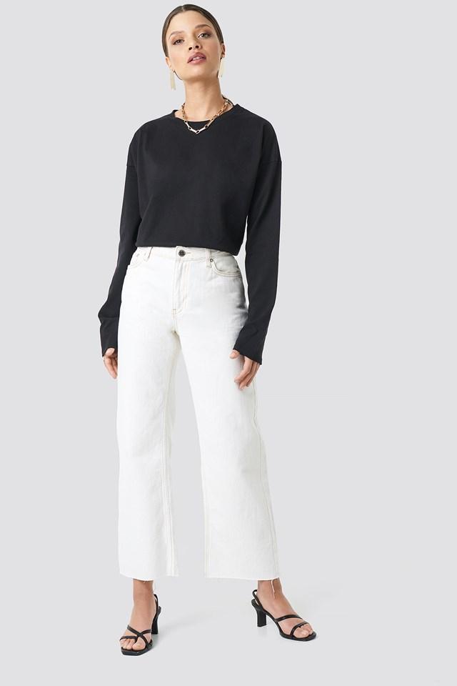 Unisex Long Sleeve Top Black