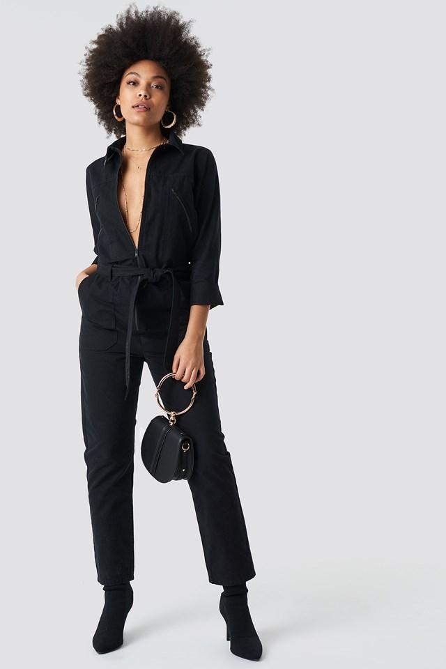 Utility Jumpsuit Black